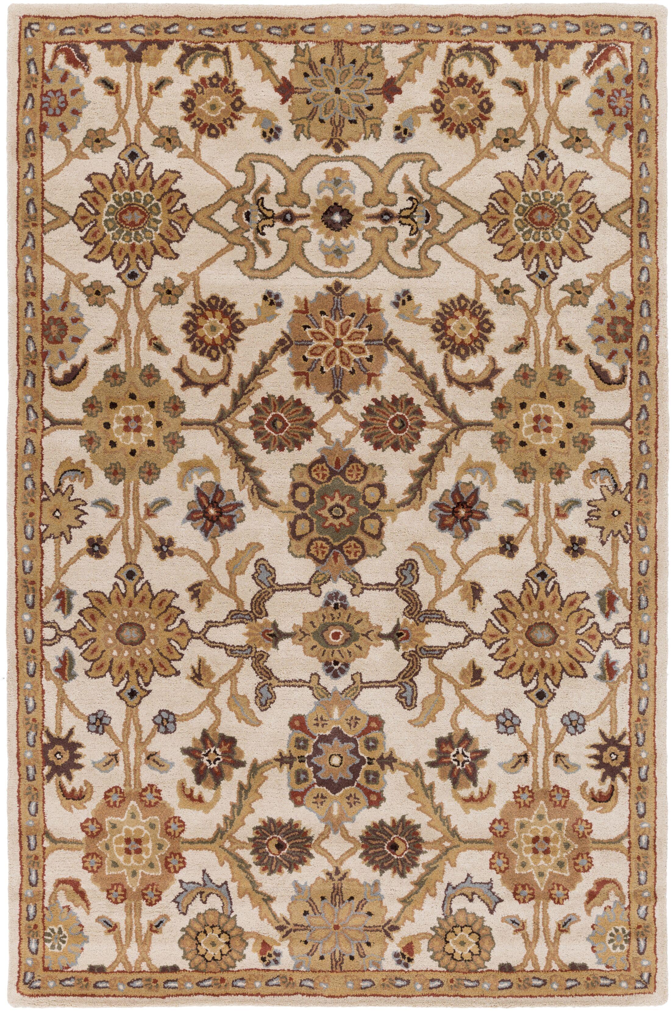 Philson Hand-Tufted Tan/Gray Area Rug Rug Size: Rectangle 4' x 6'