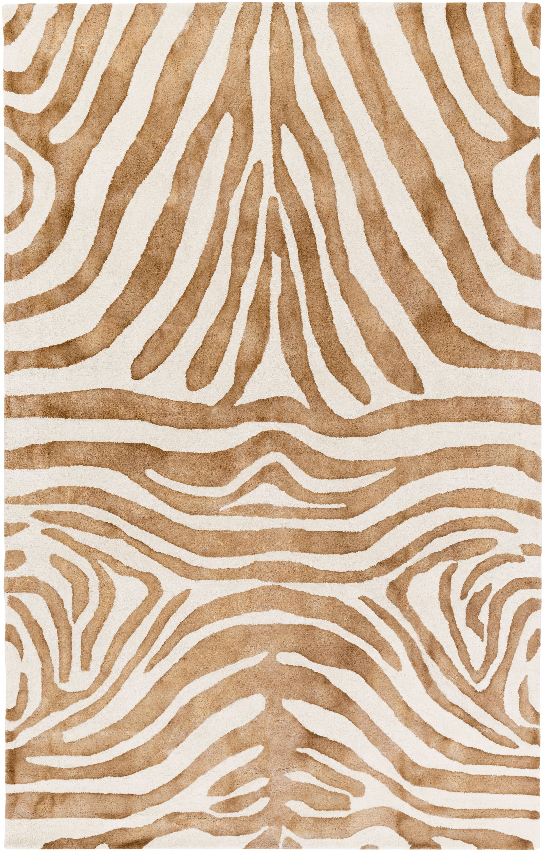 Petunia Hand-Tufted Brown Area Rug Rug Size: Rectangle 4' x 6'