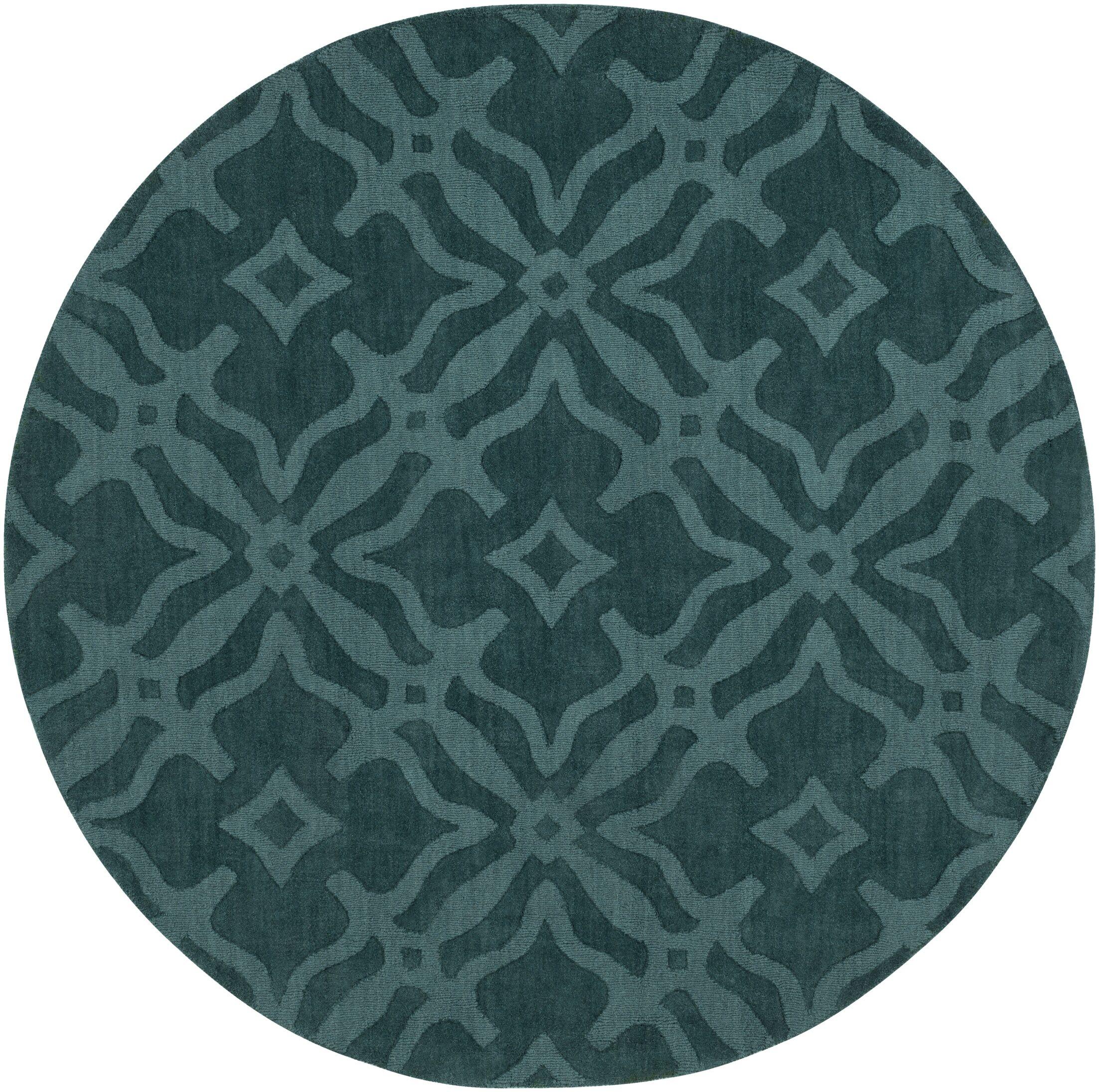 Dutchess Handmade Teal Area Rug Rug Size: Round 9'9