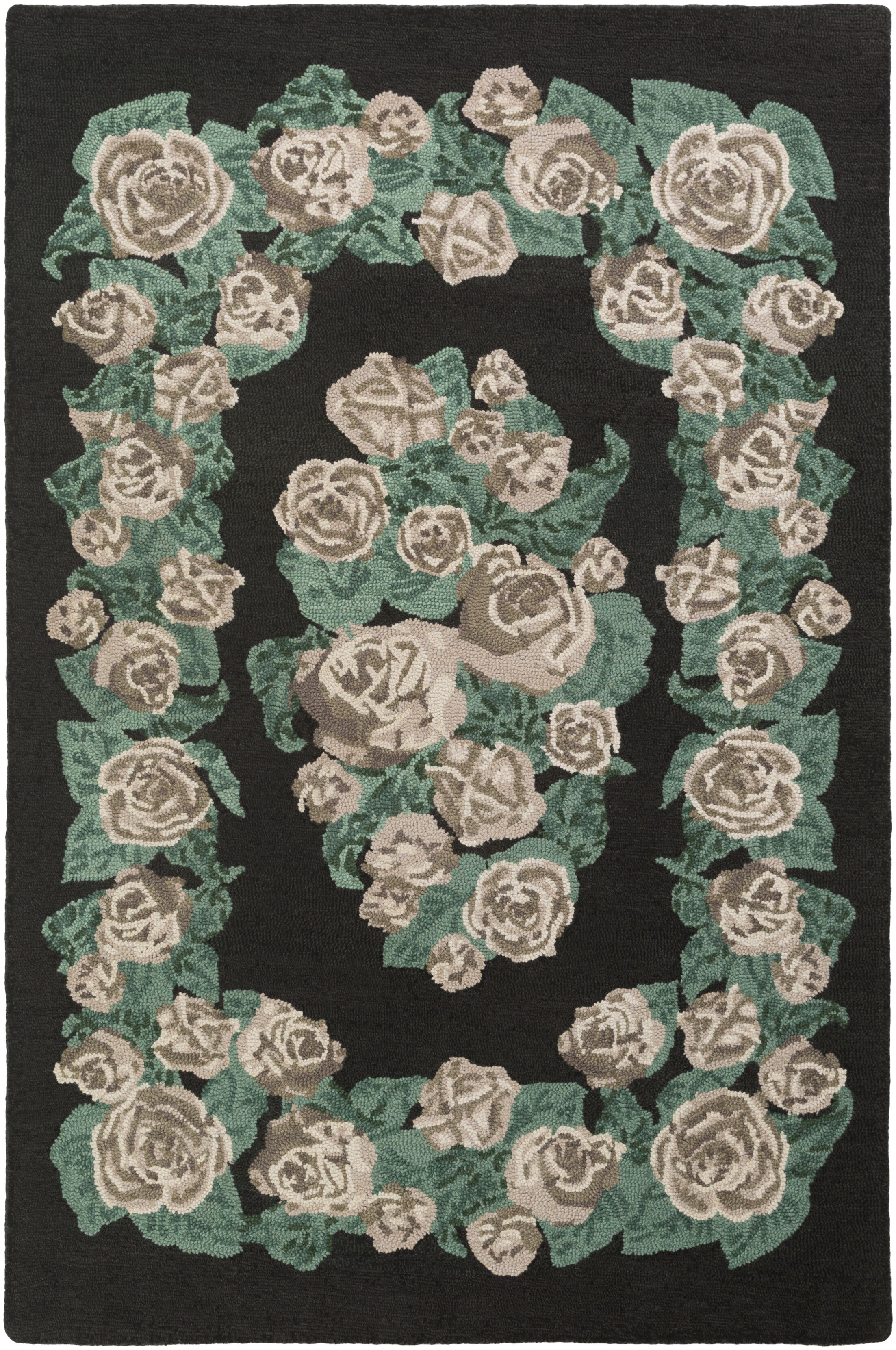 Lackey Hand-Tufted Green Area Rug Rug Size: Rectangle 8' x 10'