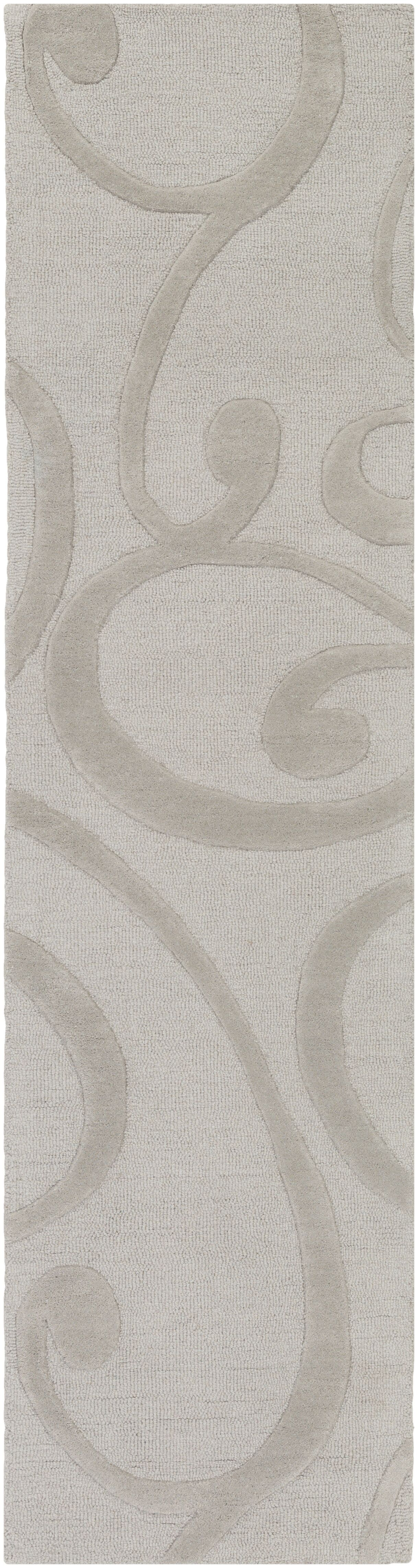 Allegro Hand-Tufted Stone Area Rug Rug Size: Runner 2' x 8'