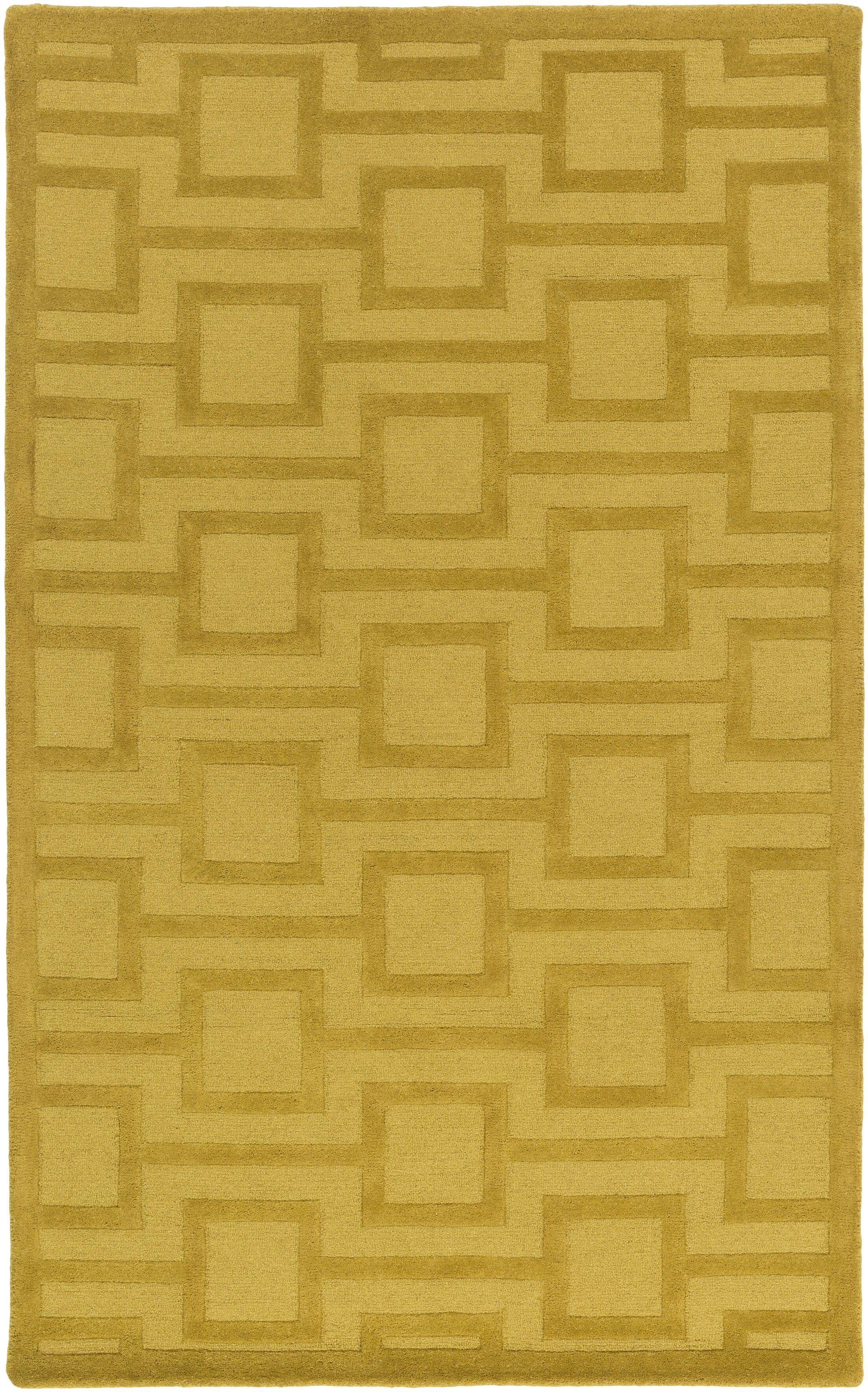 Sarai Hand-Tufted Gold Area Rug Rug Size: Rectangle 8' x 10'