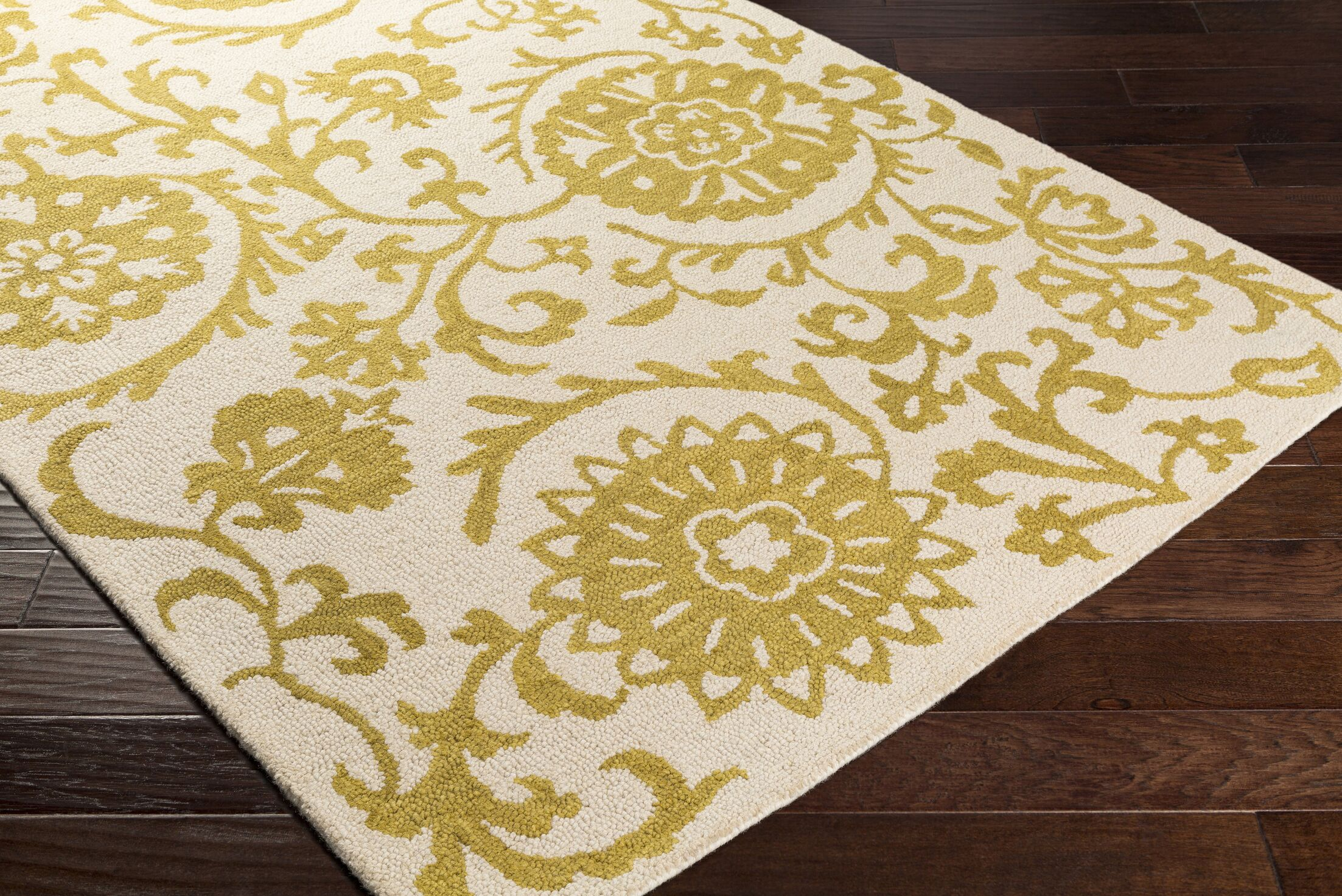 Aylor Hand-Tufted Yellow Area Rug Rug Size: Rectangle 9' x 13'