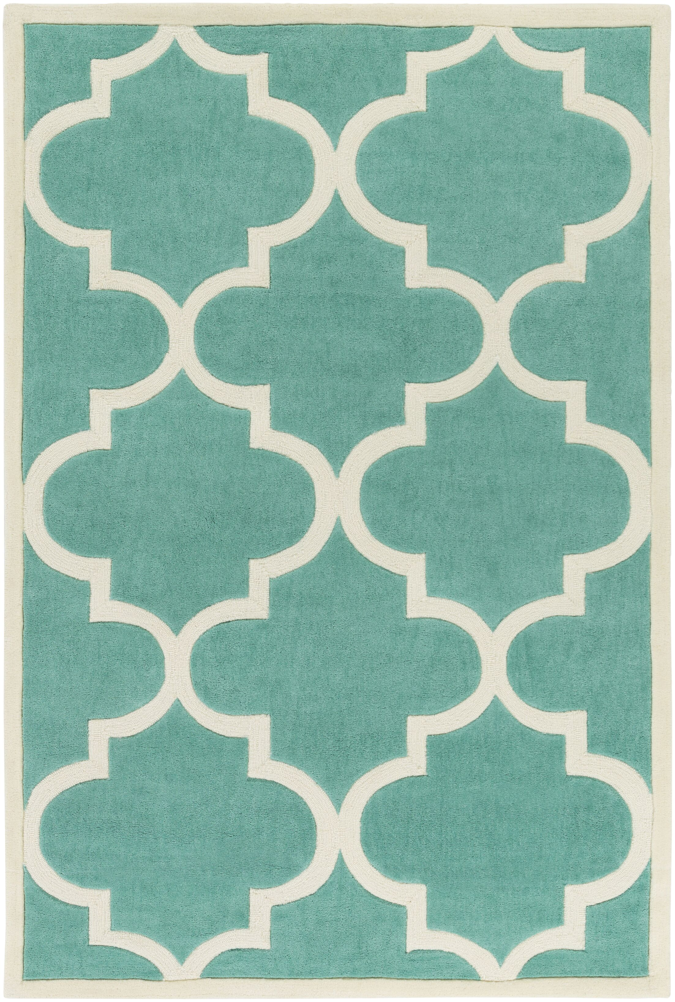Daubert Hand-Tufted Emerald Area Rug Rug Size: Rectangle 8' x 11'