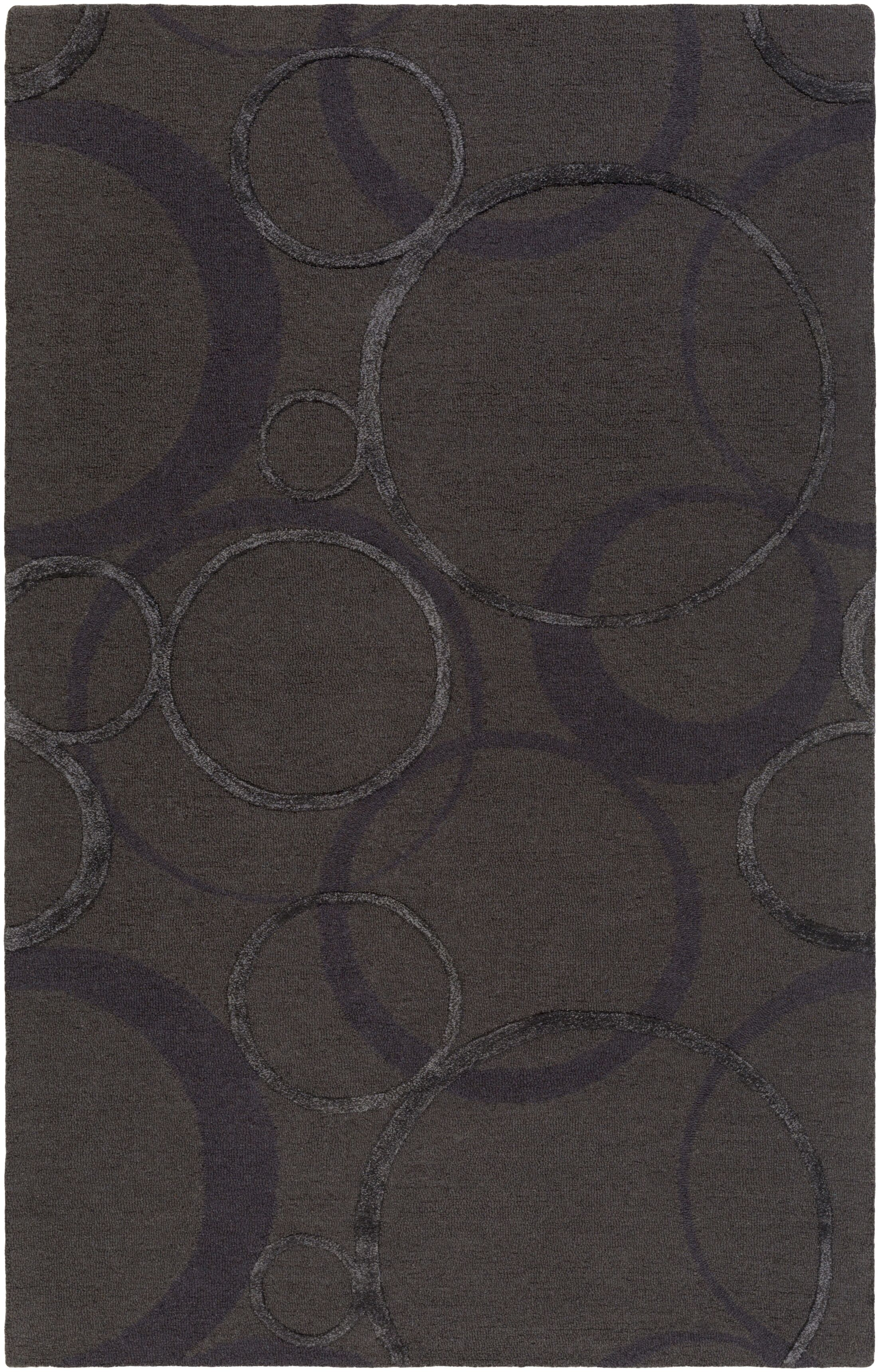 Moyes Hand-Tufted Charcoal Area Rug Rug Size: Rectangle 4' x 6'
