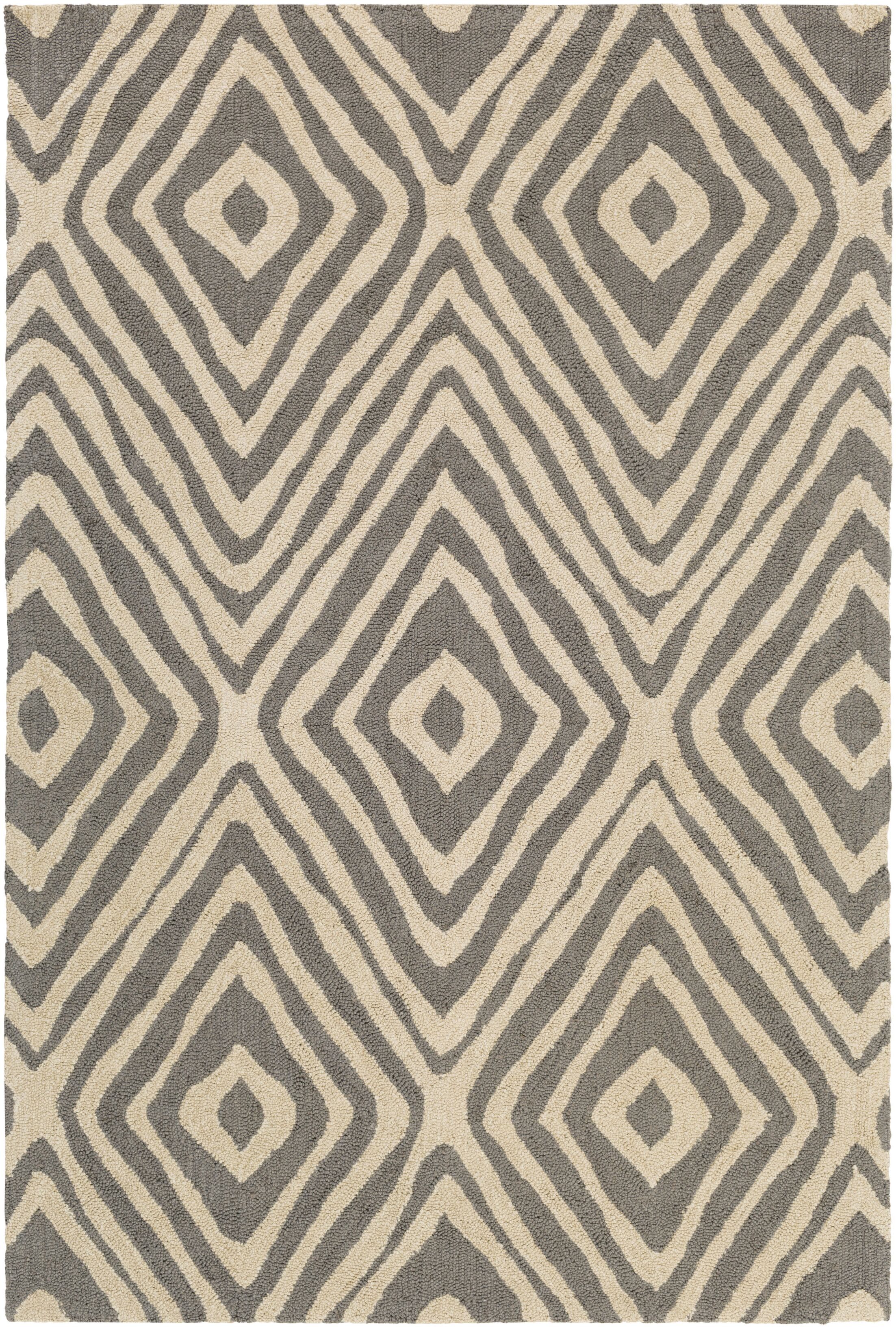 Juhasz Hand-Tufted Gray/Beige Area Rug Rug Size: Rectangle 5' x 7'6
