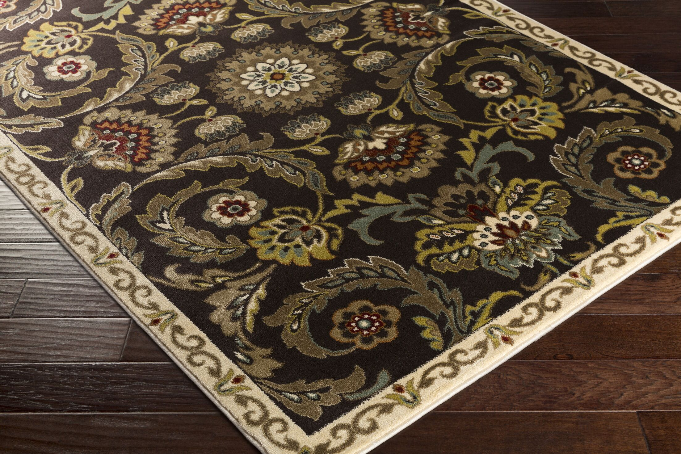 Dunnigan Brown Area Rug Rug Size: Rectangle 7'10