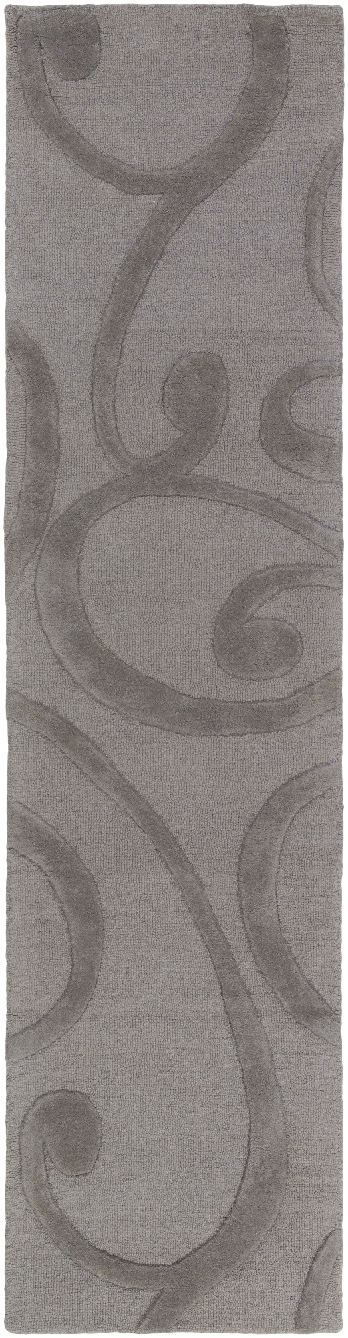 Allegro Hand-Tufted Dark Gray Area Rug Rug Size: Runner 2' x 8'