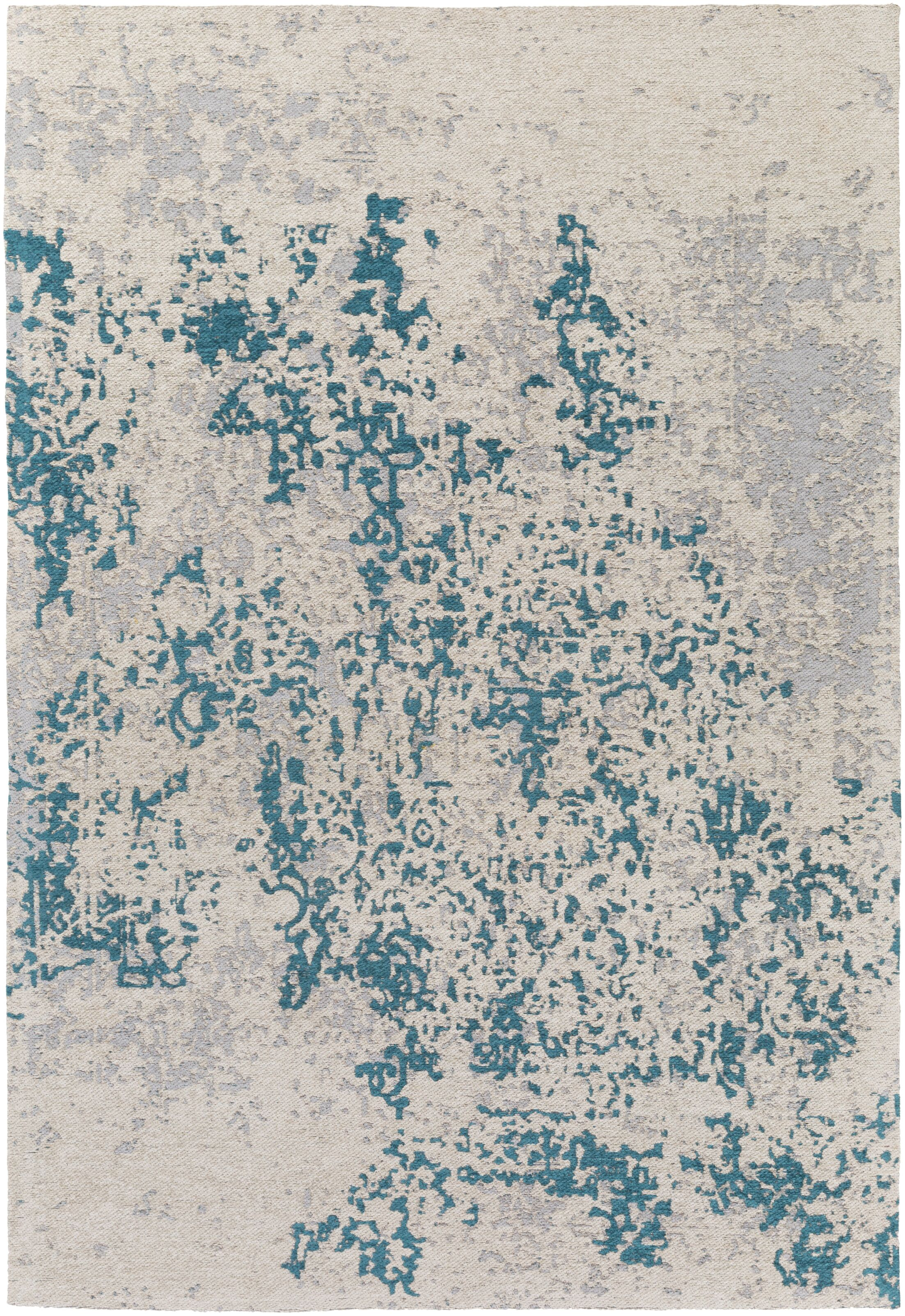 Detrick Handmade Teal Blue/Silver Area Rug Rug Size: Rectangle 9' x 13'