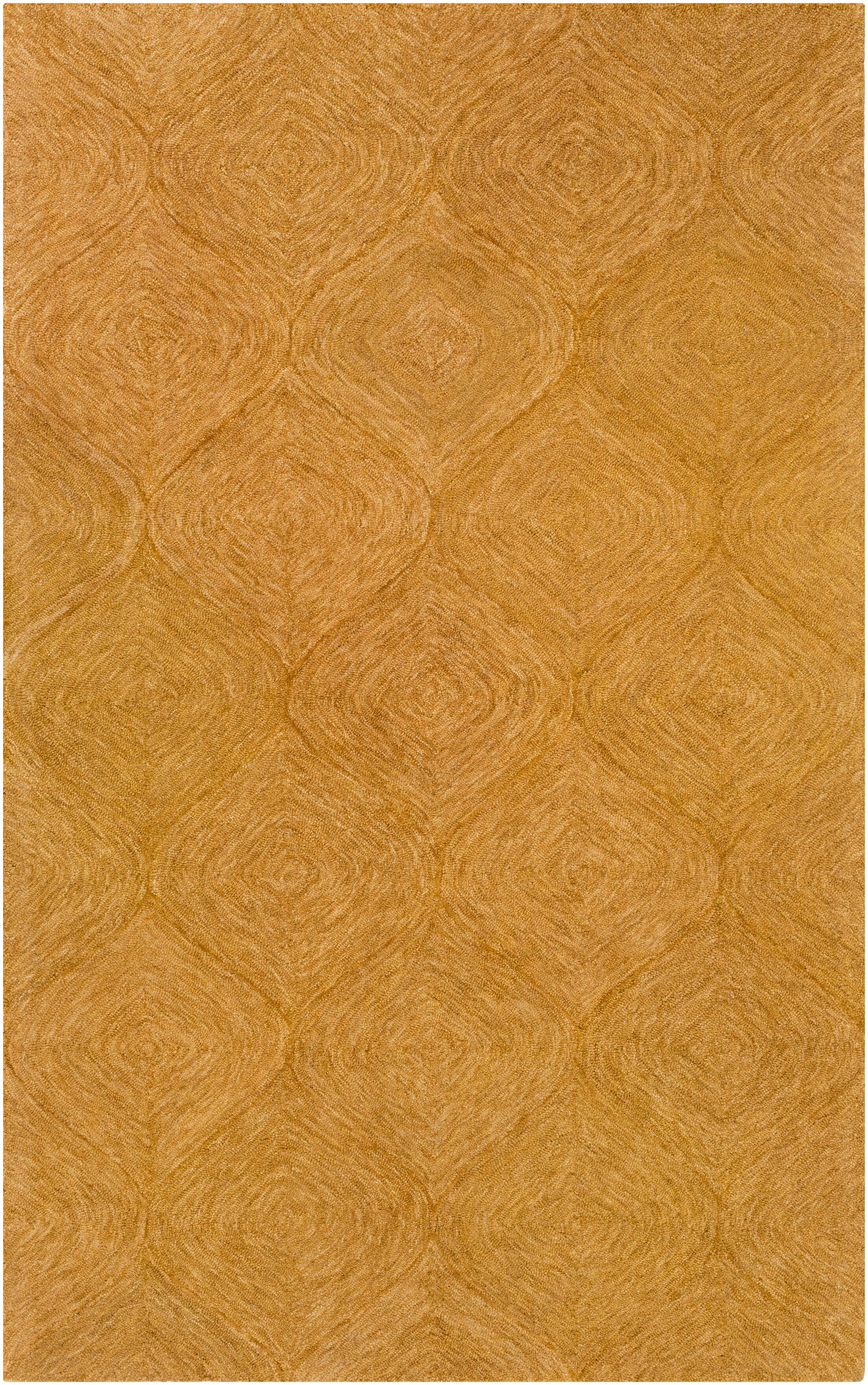 Bloch Hand-Tufted Orange Area Rug Rug Size: Rectangle 5' x 8'