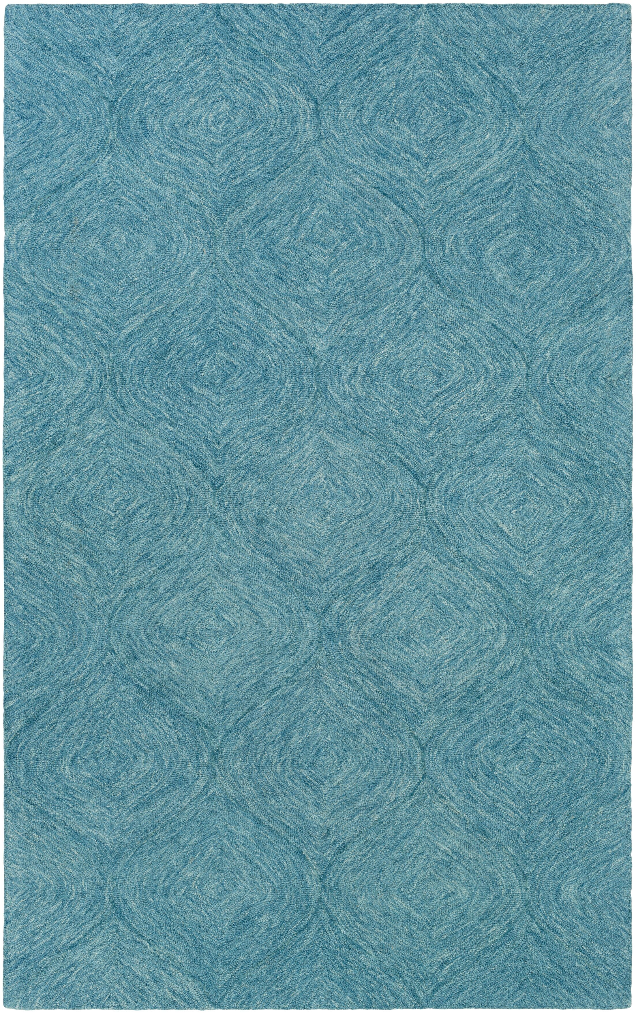 Bloch Hand-Tufted Turquoise Area Rug Rug Size: Rectangle 5' x 8'
