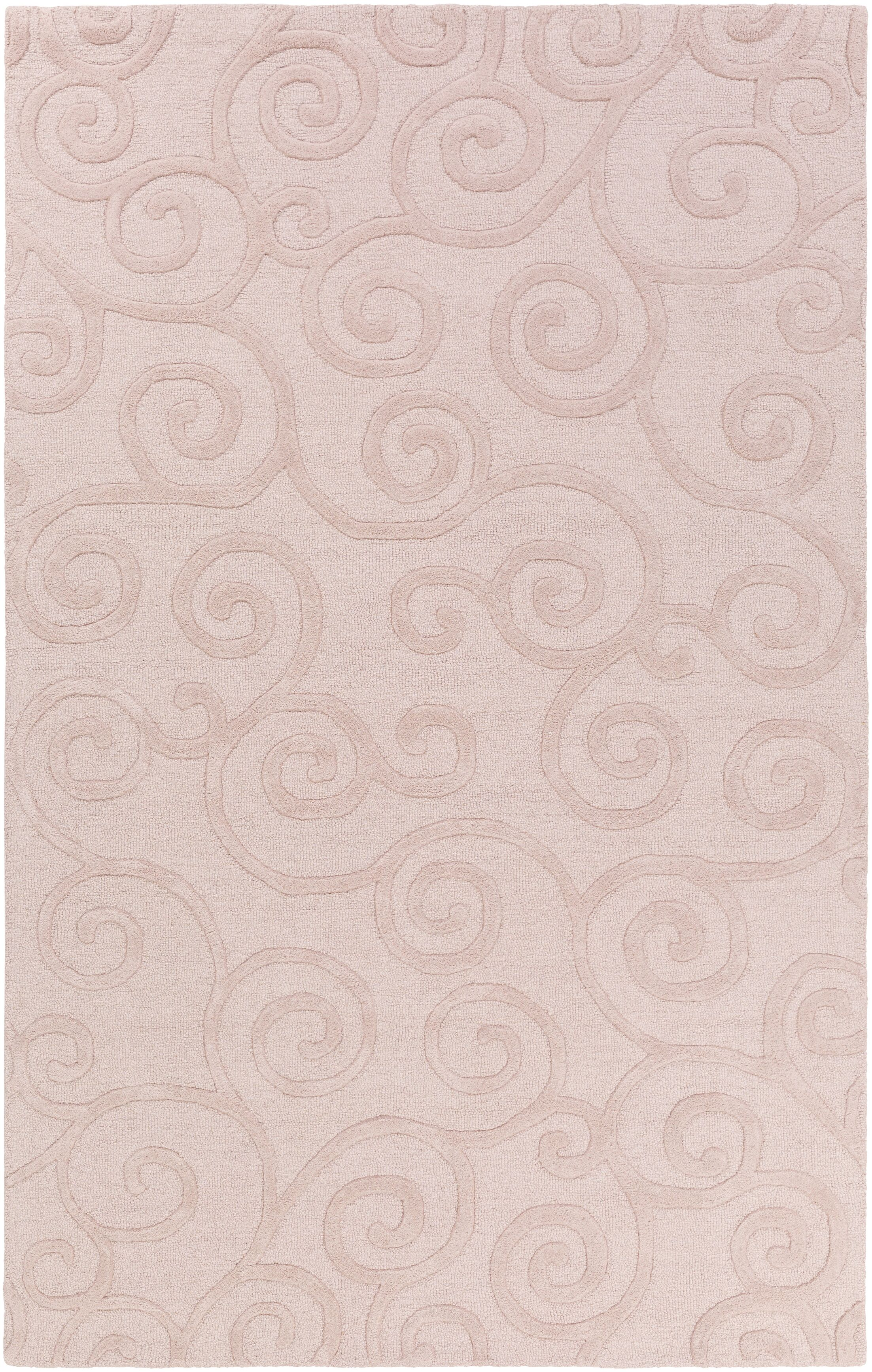 Allendale Hand-Tufted Light Pink Area Rug Rug Size: Rectangle 5' x 8'