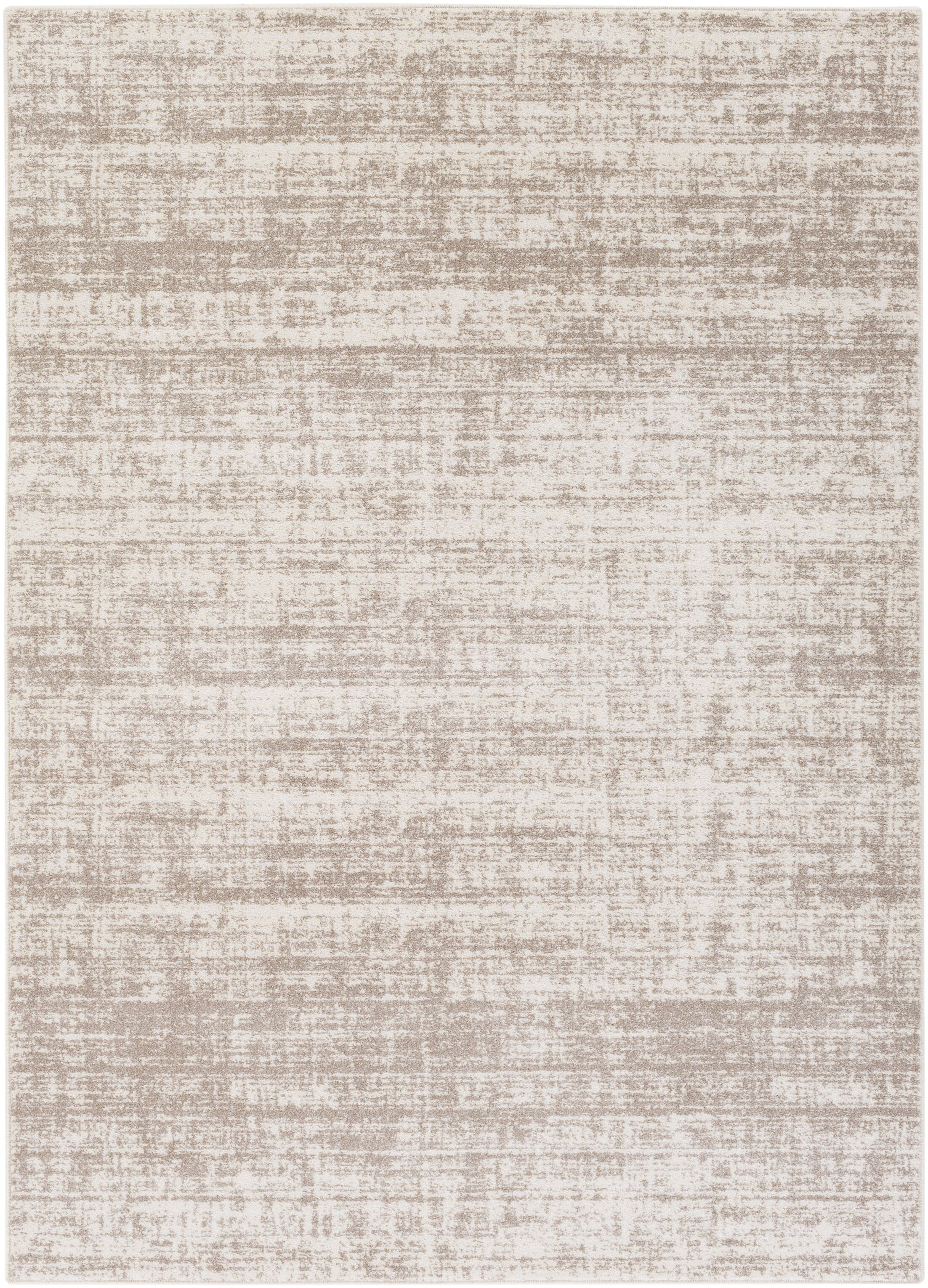 Zellmer Hand-Woven Taupe/Ivory Area Rug Rug Size: Rectangle 5'3