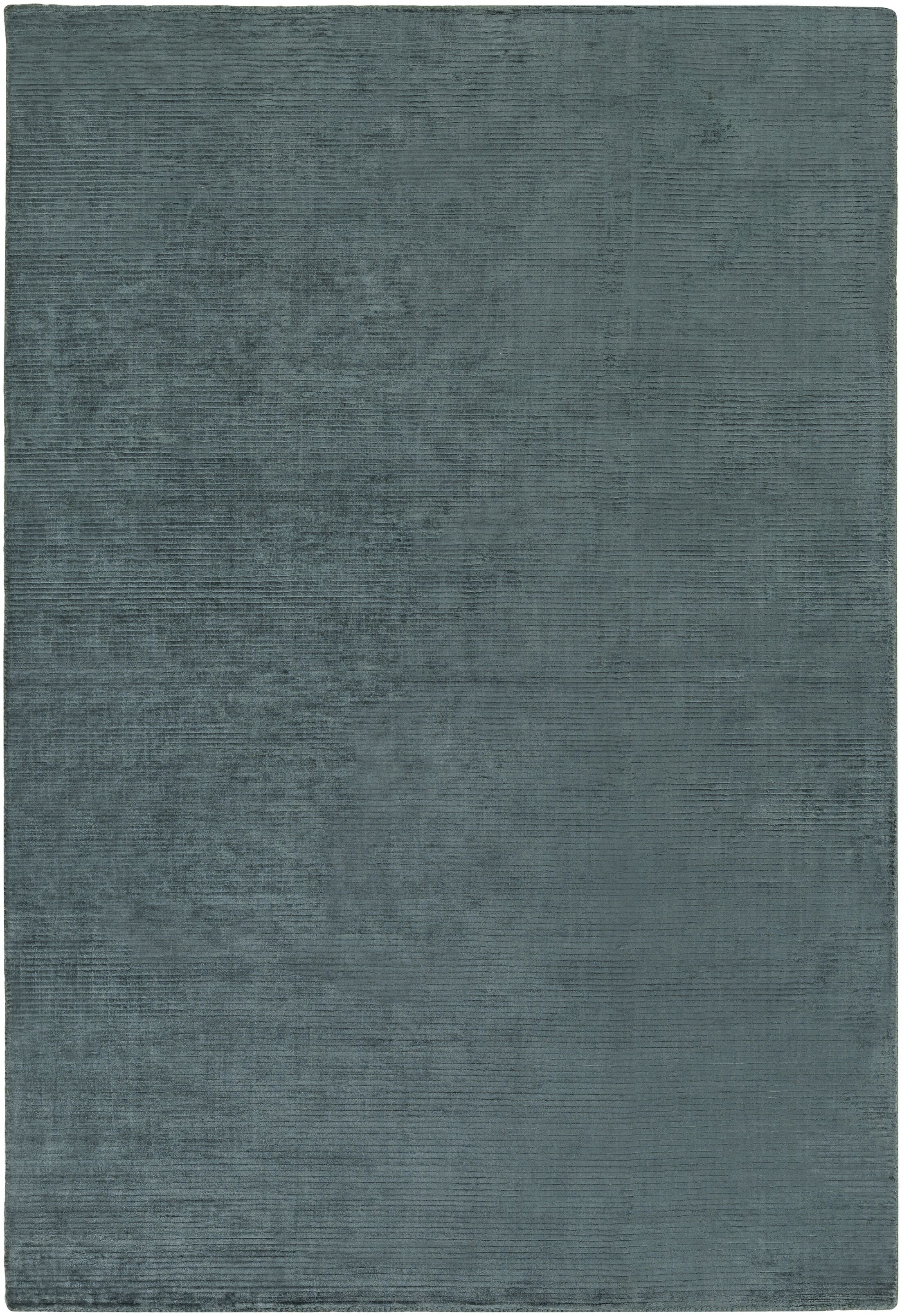 Blosser Hand-Loomed Teal Area Rug Rug Size: Rectangle 5' x 7'6