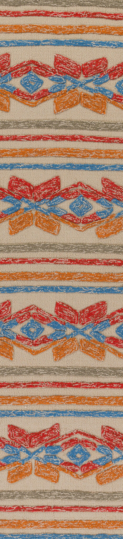 Dillow Hand-Tufted Poppy Red/Tangerine Indoor/Outdoor Area Rug Rug Size: Runner 2'6