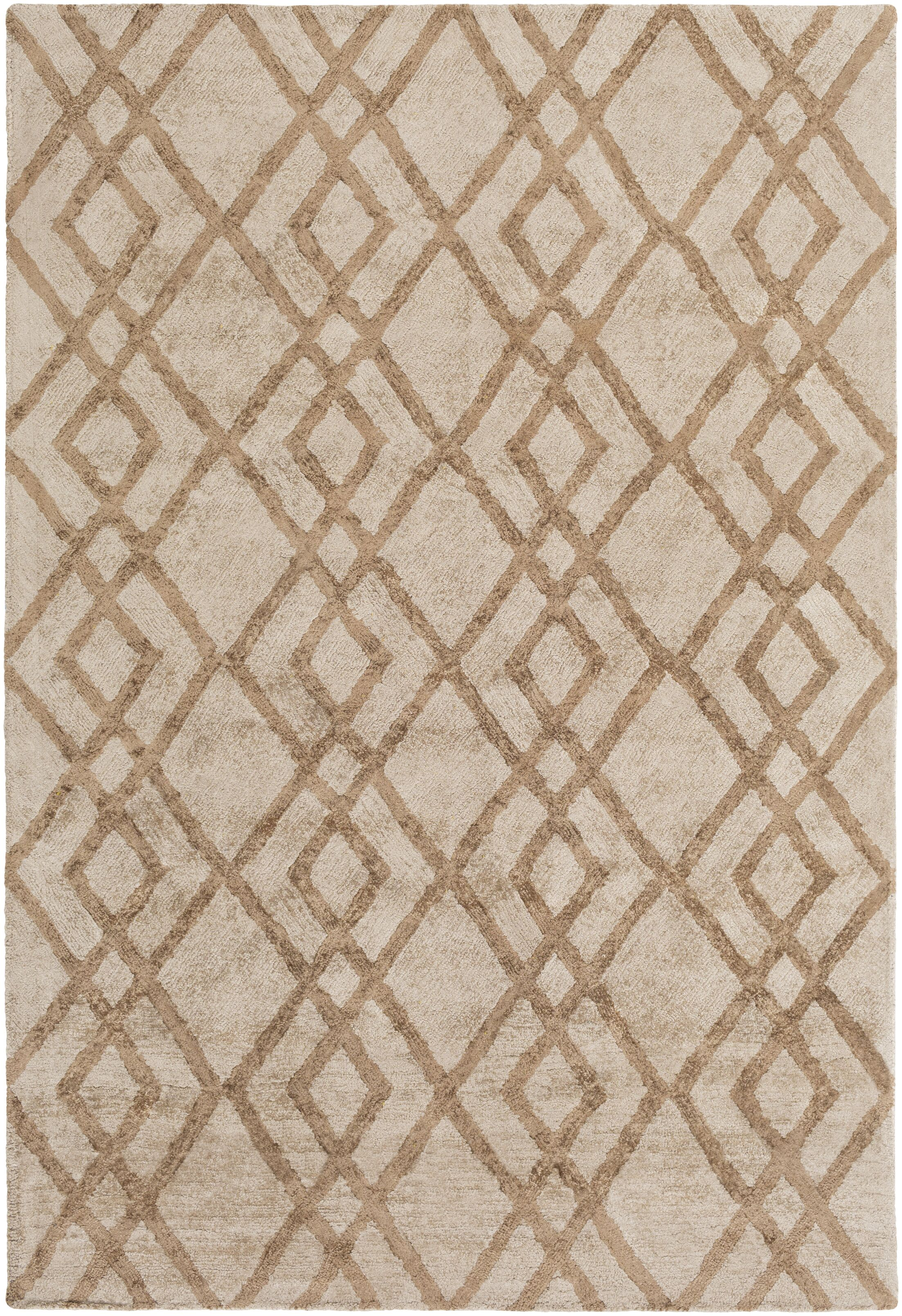Bradt Hand-Tufted Beige Area Rug Rug Size: Rectangle 5' x 7'6