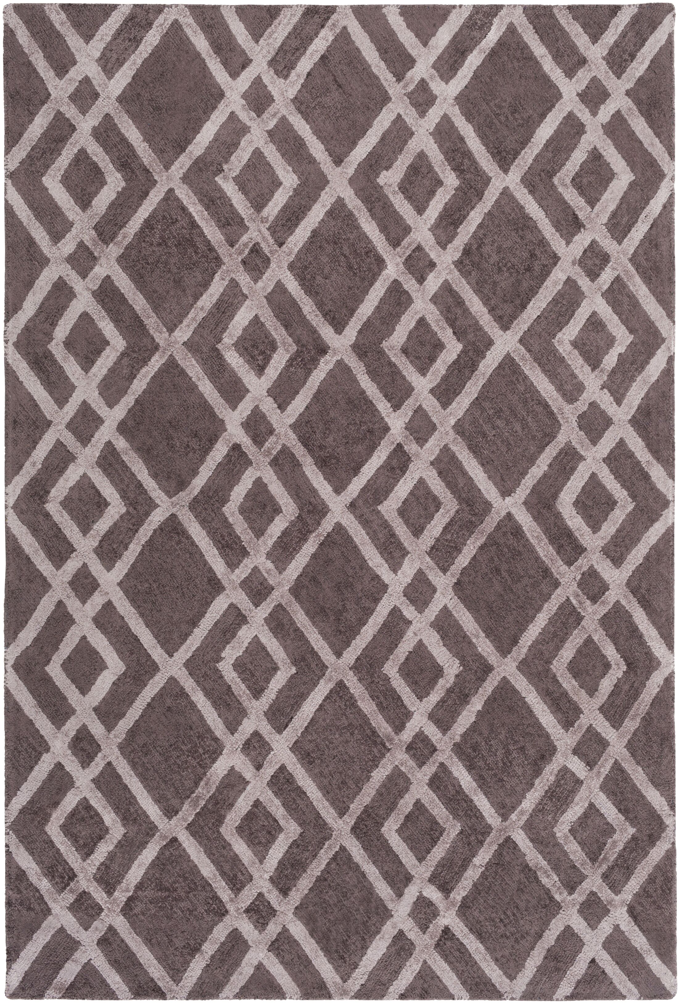 Bradt Hand-Tufted Purple Area Rug Rug Size: Rectangle 8' x 11'