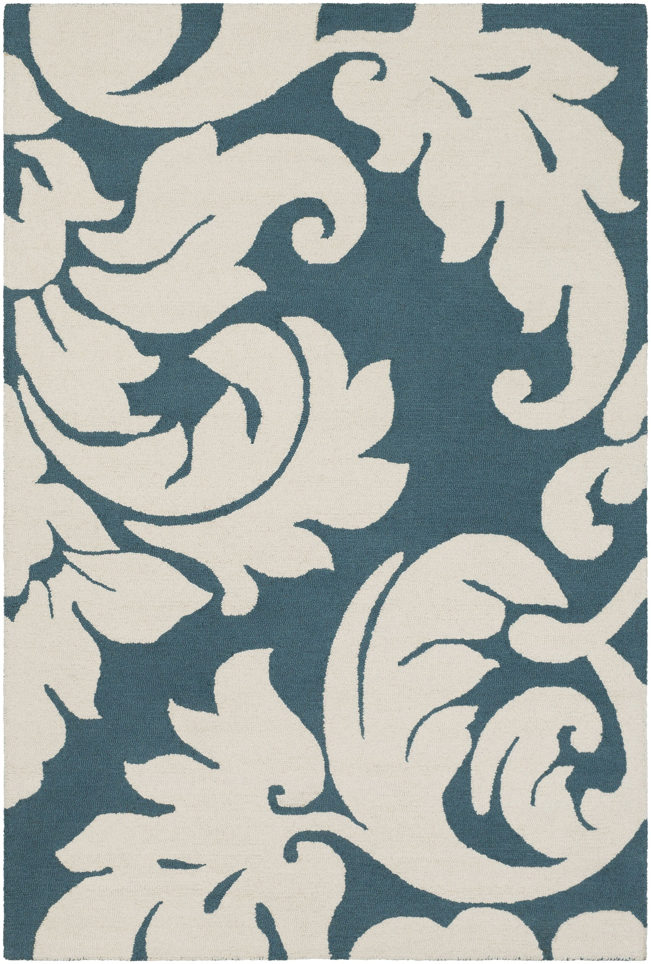 Lachance Hand-Tufted Teal Area Rug Rug Size: Rectangle 9' x 13'