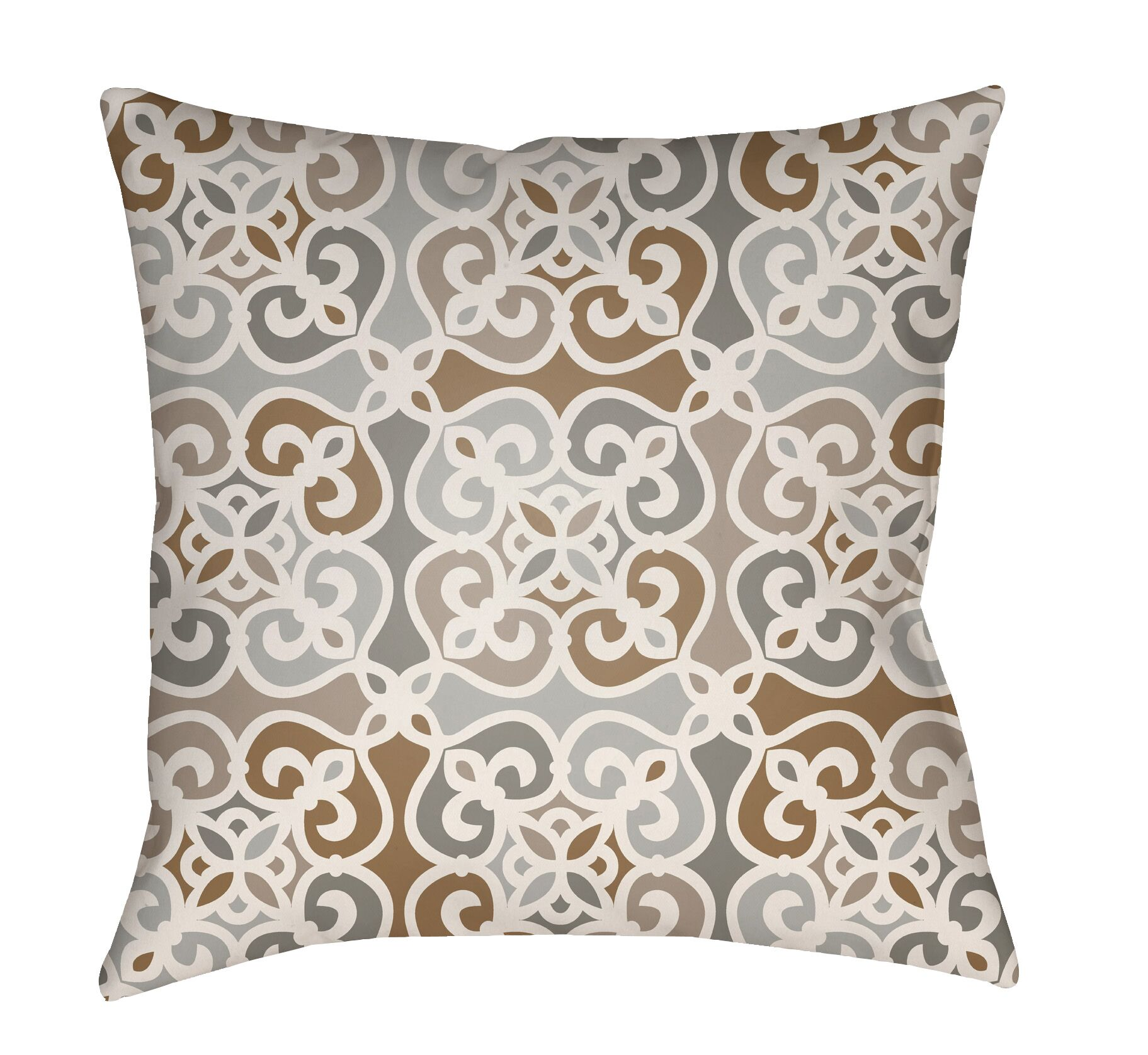 Alfredson Indoor/Outdoor Throw Pillow Color: Gray, Size: 26