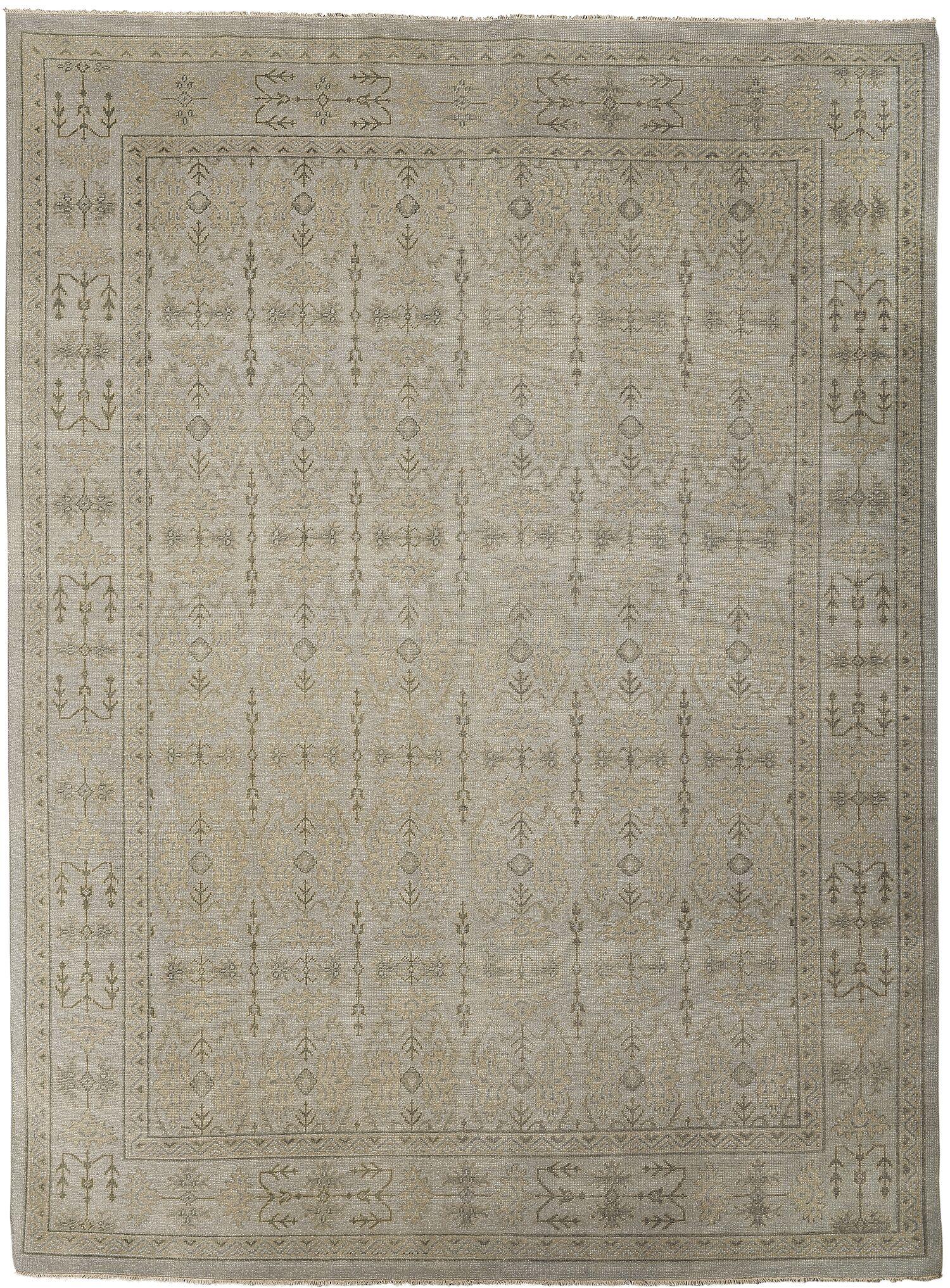 Earnshaw Silver/Sand Area Rug Rug Size: 6' x 9'
