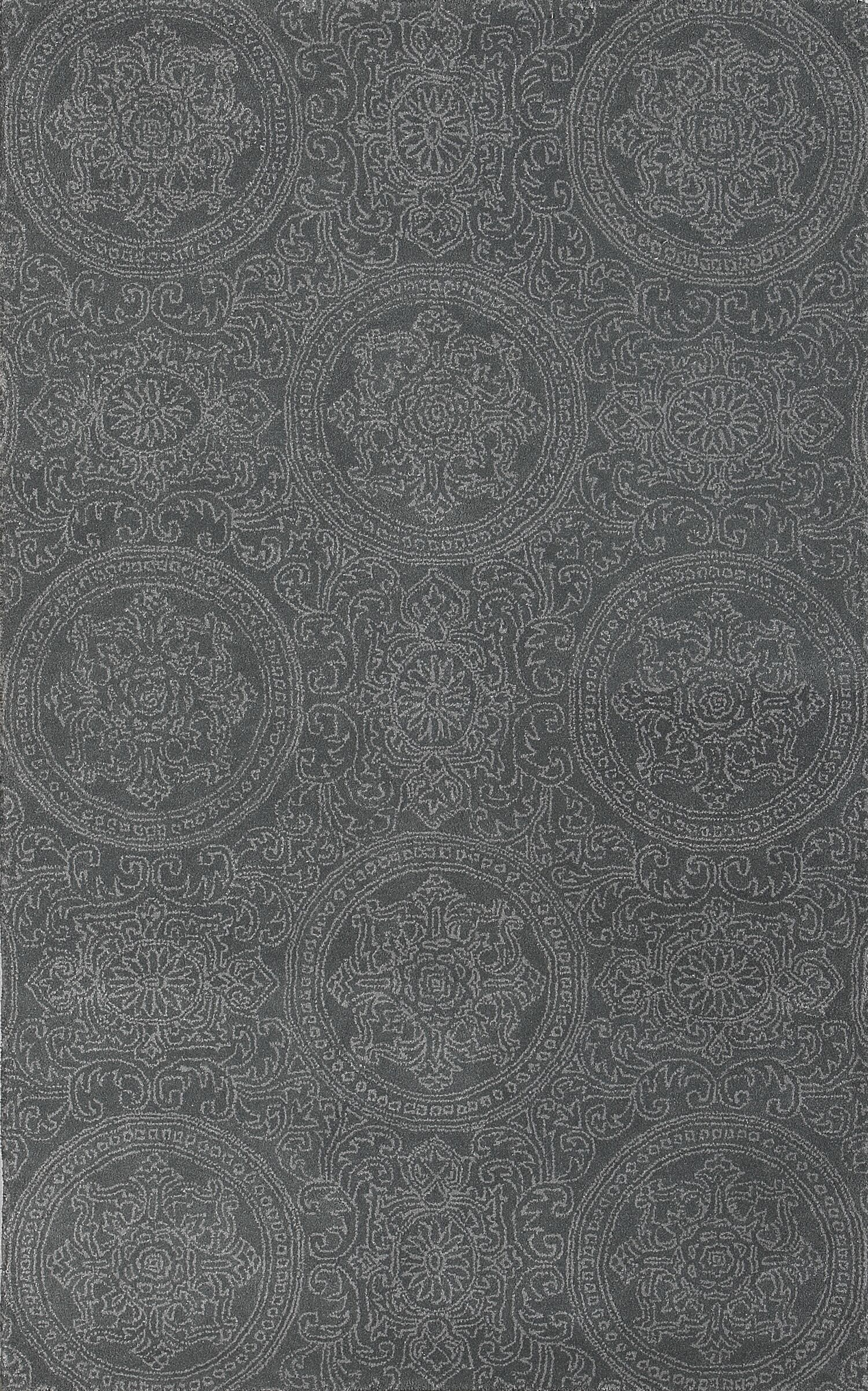 Earles Silver Blue Area Rug Rug Size: 5' x 8'