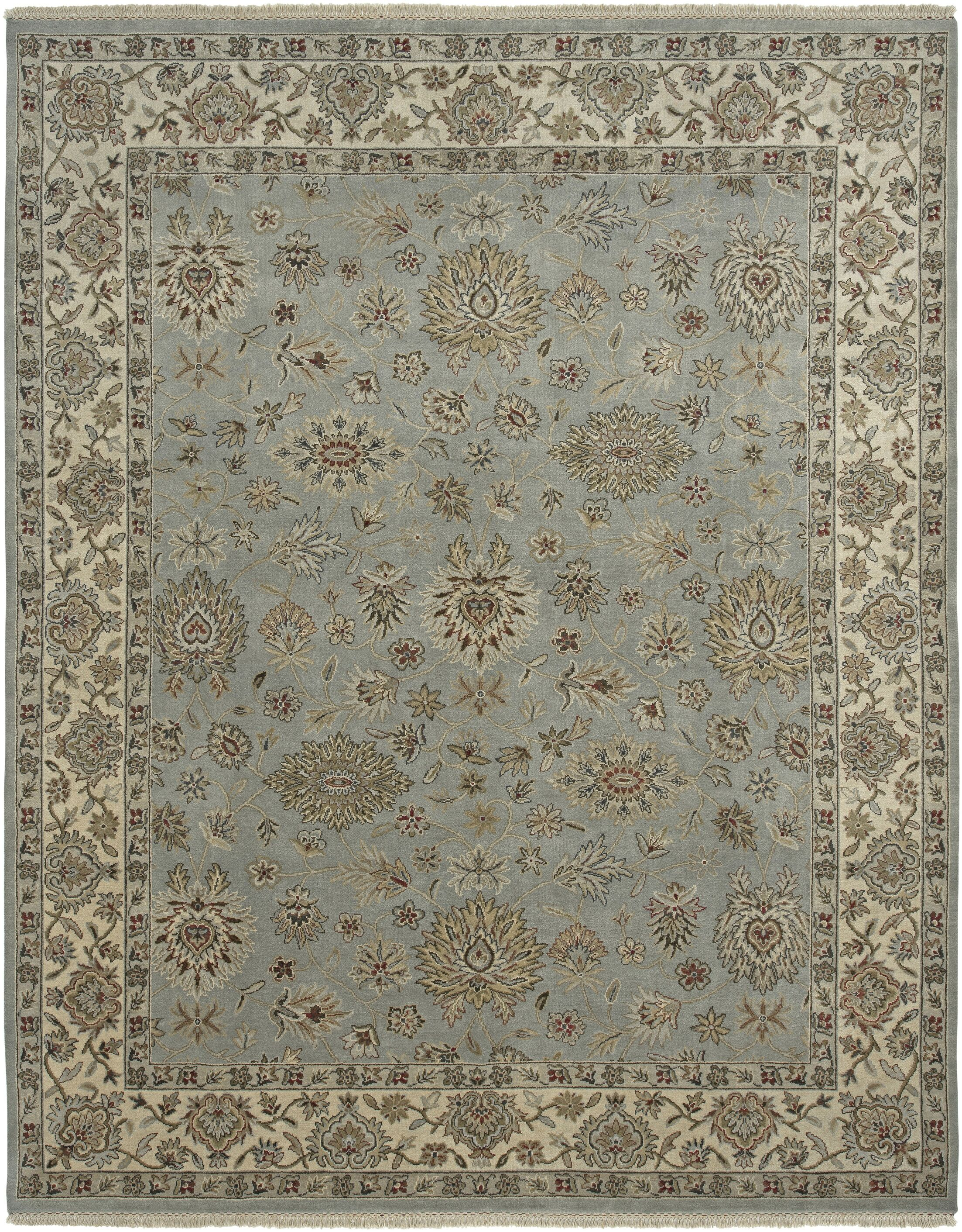 Victoire Moss/Ivory Area Rug Rug Size: Round 6'