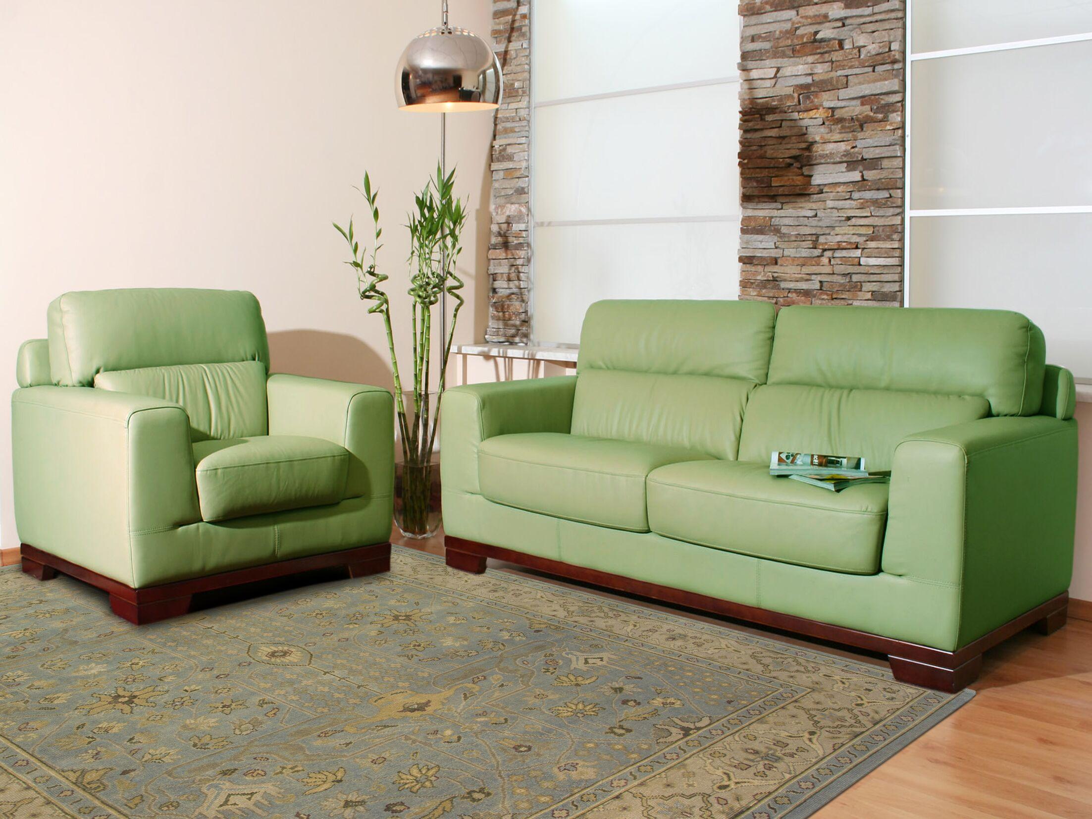 Liverpool Light Green Area Rug Rug Size: 10' x 14'