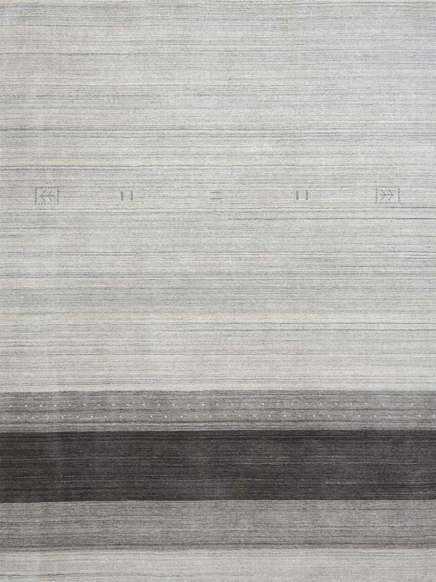 Works Blend Hand Woven Silk Light Gray Area Rug Rug Size: 10' x 14'