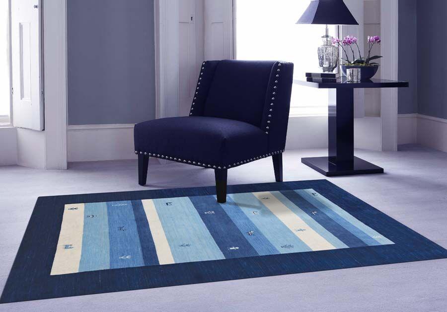 Pressley Navy Blue Area Rug Rug Size: 5' x 8'