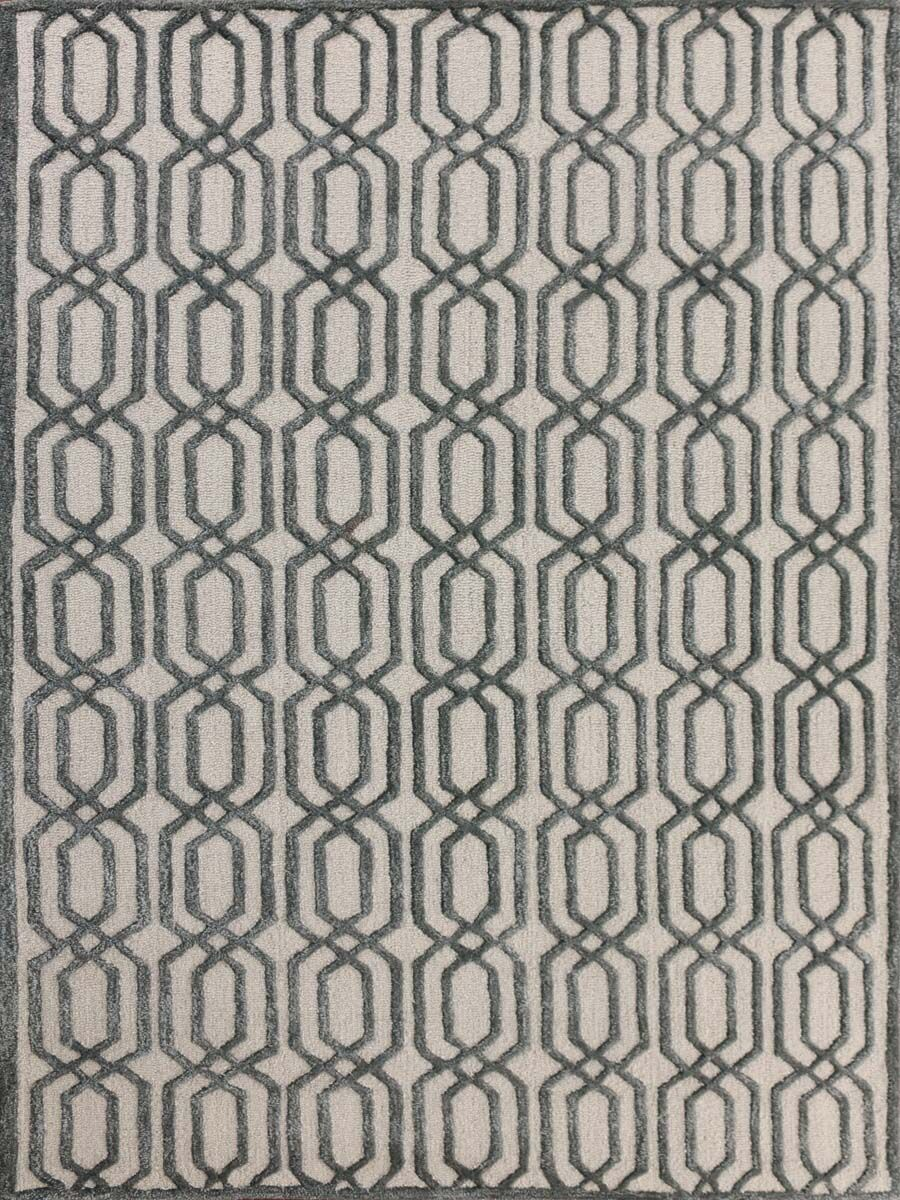 Carlstadt White Area Rug Rug Size: 2' x 3'