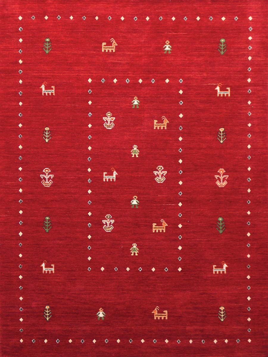 Pressley Hand Woven Silk Red/Green/Black Area Rug Rug Size: 5' x 8'