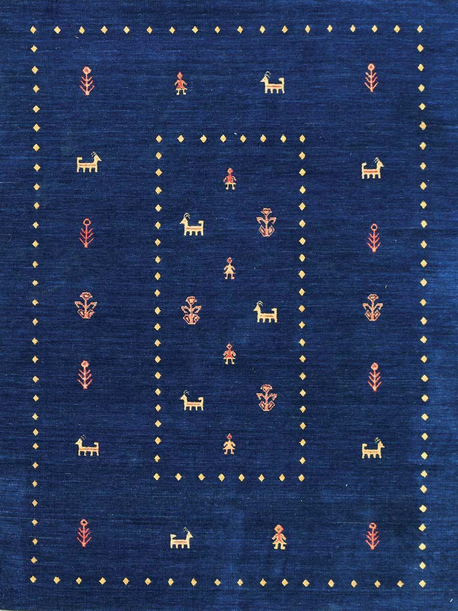 Pressley Navy Blue Area Rug Rug Size: 9' x 12'