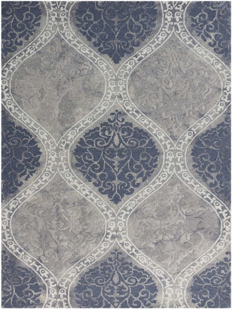 Pavilion Hand-Tufted Gray/Blue Sand Area Rug Rug Size: Rectangle 7'6