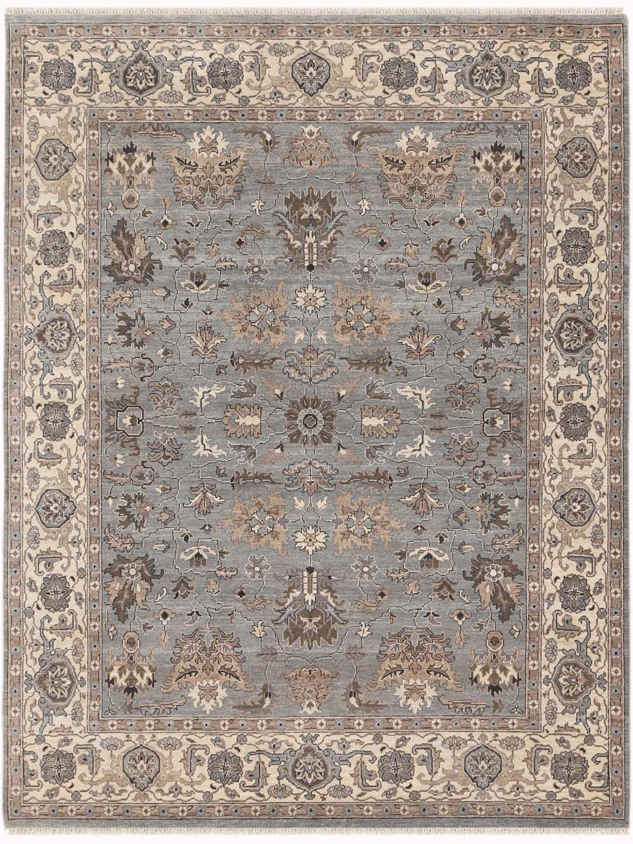 Grant Hand-Knotted Gray/Beige Area Rug Rug Size: 2' x 3'