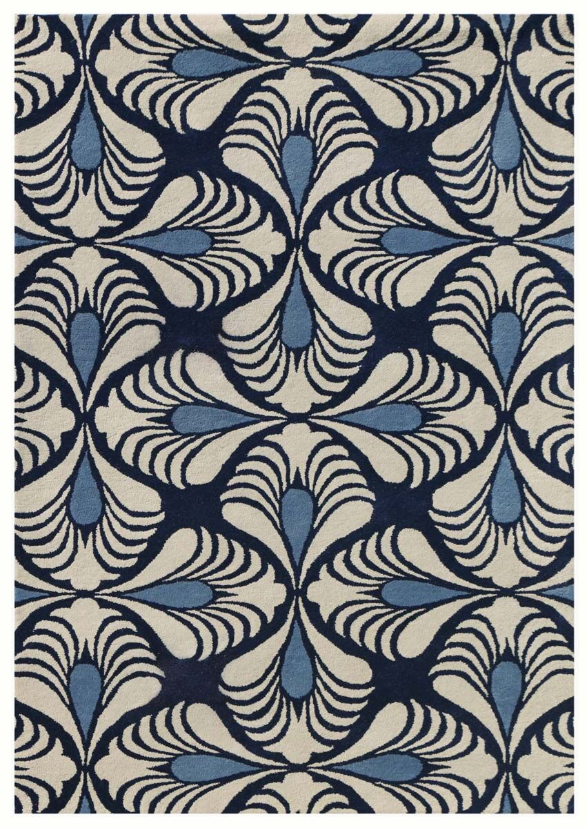 Weese Hand-Tufted Navy Area Rug Rug Size: Rectangle 7'6