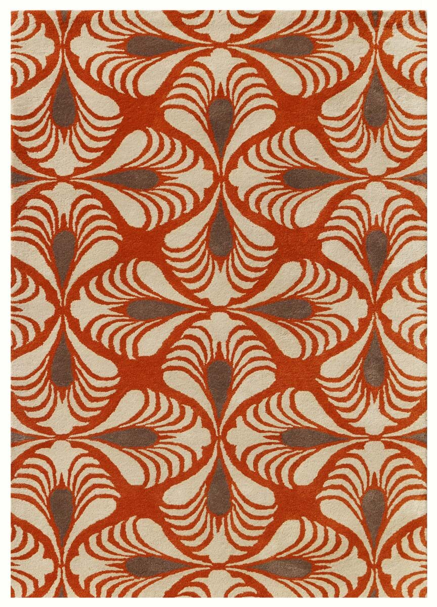 Weese Hand-Tufted Orange Area Rug Rug Size: Rectangle 5' x 8'