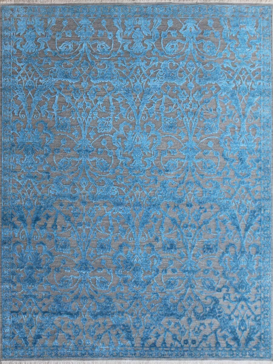 Chipping Campden Modern & Contemporary Hand-Tufted Blue Area Rug Rug Size: Rectangle 6' x 9'
