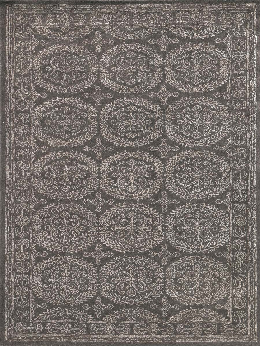 Zada Hand-Tufted Charcoal Area Rug Rug Size: Rectangle 7'6
