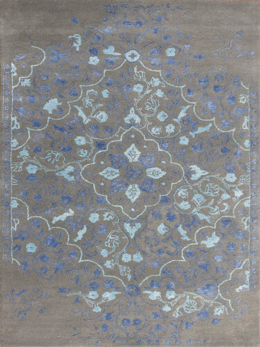 Hadassah Hand-Tufted Slate/Navy Area Rug Rug Size: Rectangle 7'6
