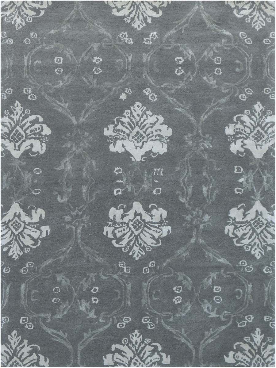 Zada Hand-Tufted Silver Sand Area Rug Rug Size: Rectangle 7'6