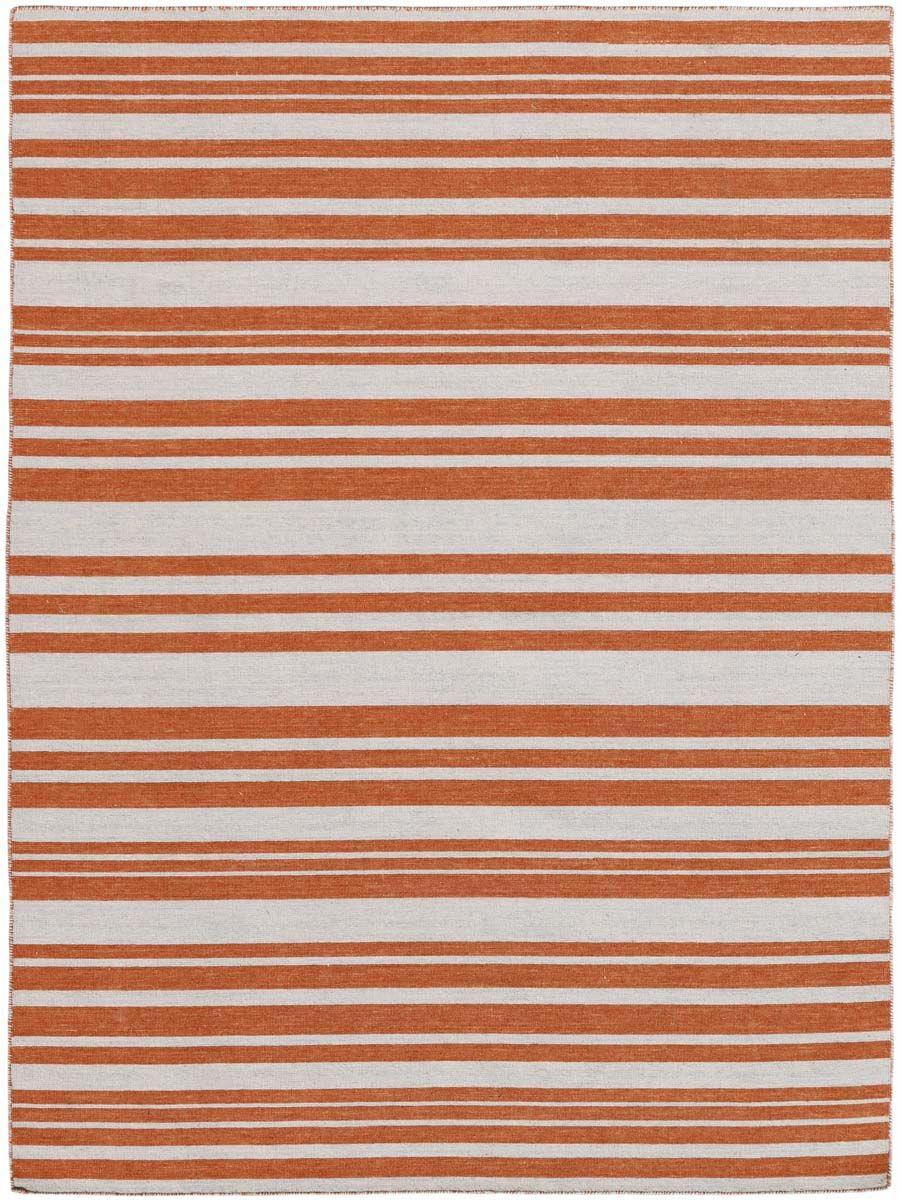 Cavanaugh Flat-Weave Orange Area Rug Rug Size: Rectangle 8' x 10'