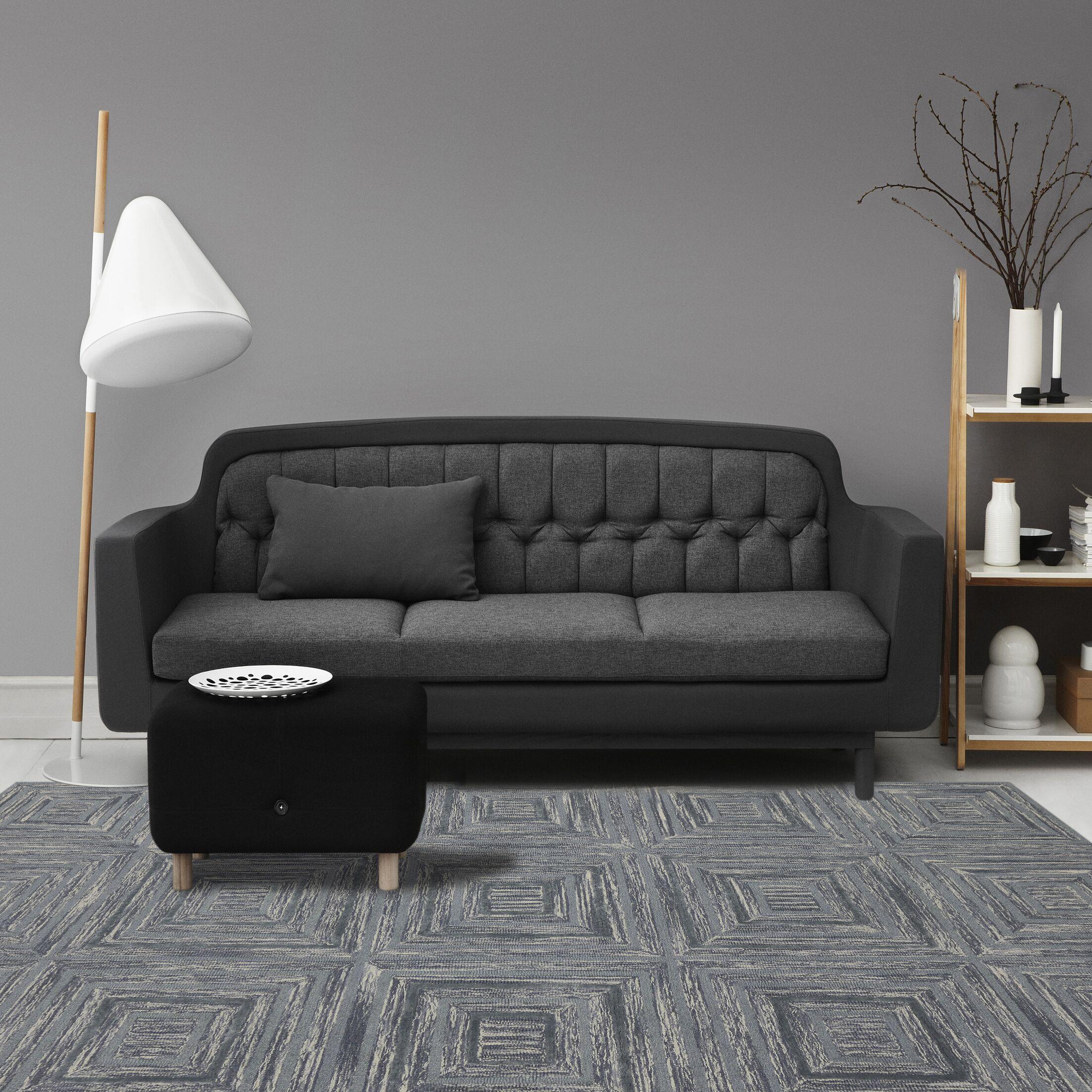 Weesner Hand-Tufted Handmade Blue Area Rug Rug Size: 5' x 8'