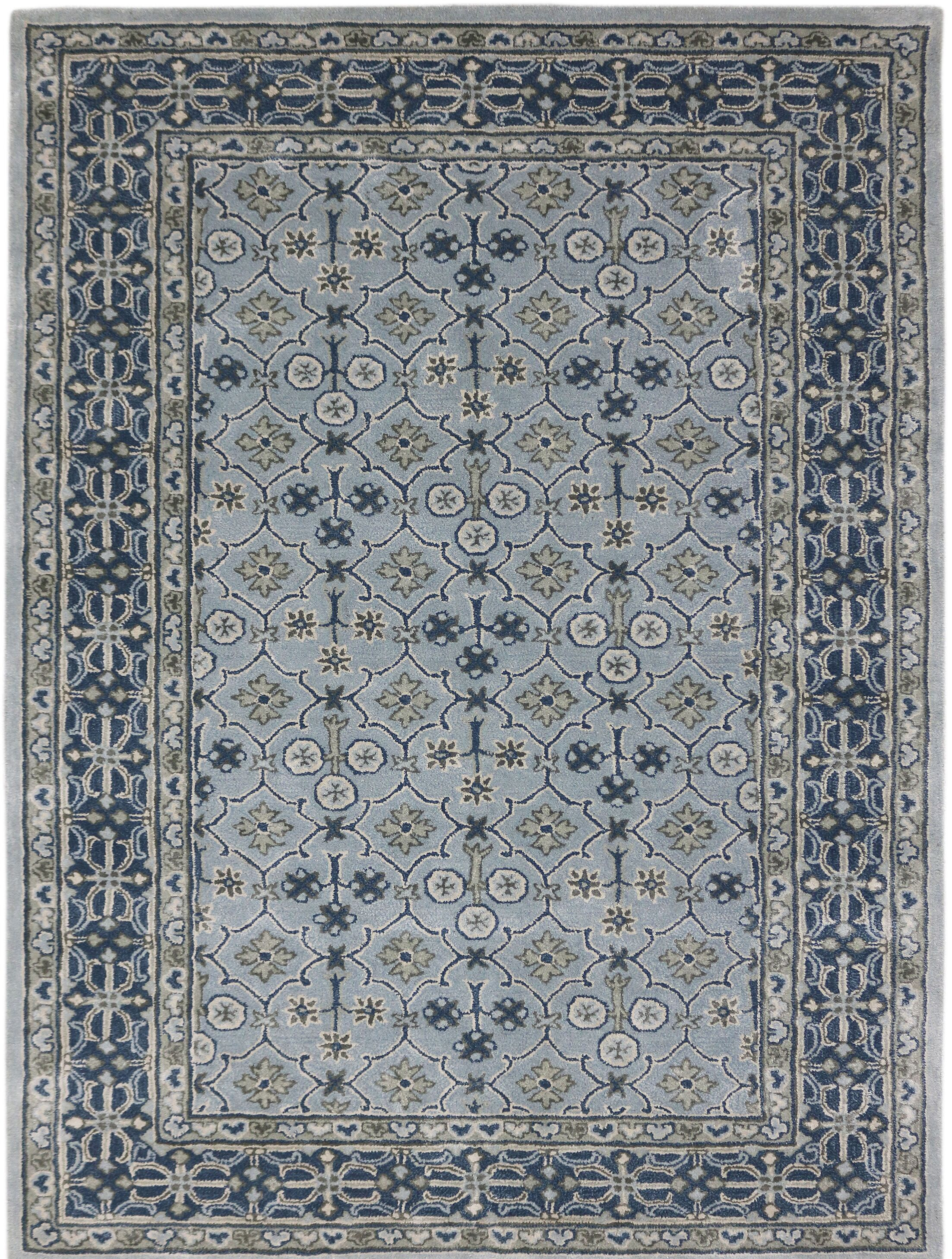 Paxtonville Hand-Tufted Handmade Blue Area Rug Rug Size: 5' x 8'