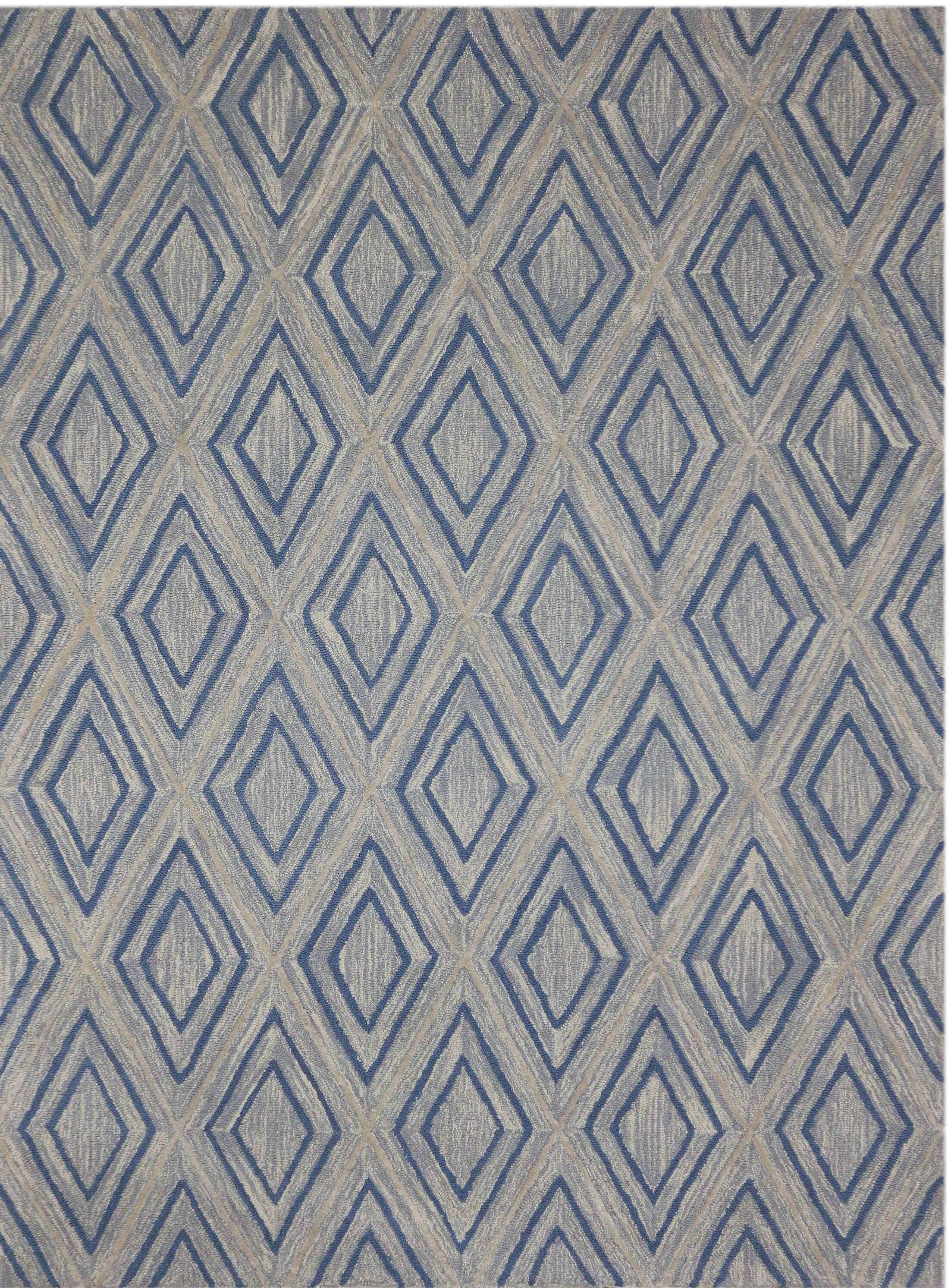 Weesner Hand-Tufted Gray Area Rug Rug Size: 7'6