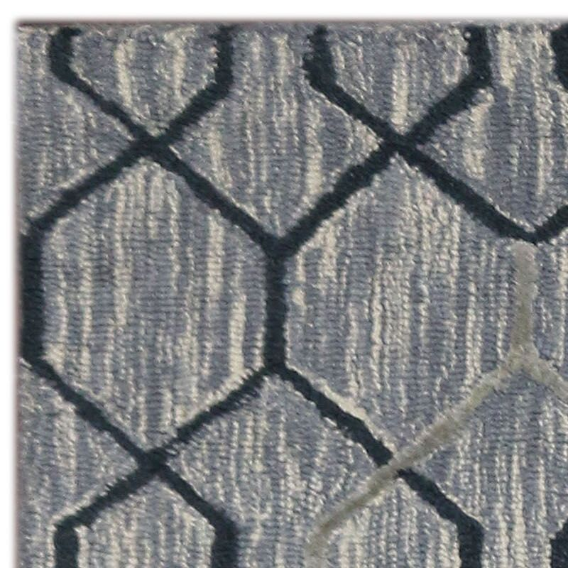 Oneil Hand-Tufted Silver/Gray Area Rug Rug Size: 5' x 8'