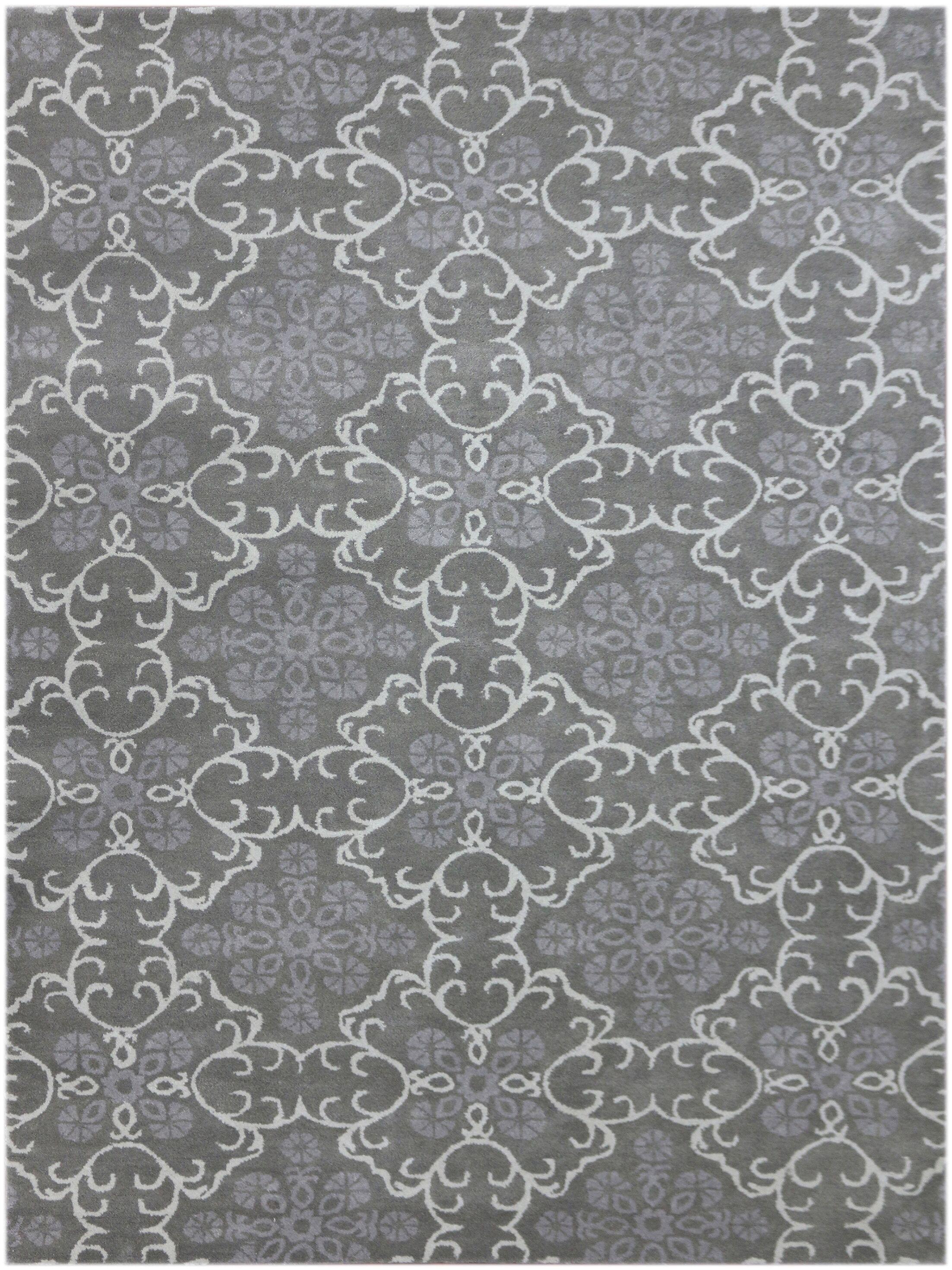 Kaydence Hand-Tufted Dove Gray Area Rug Rug Size: Rectangle 5' x 8'