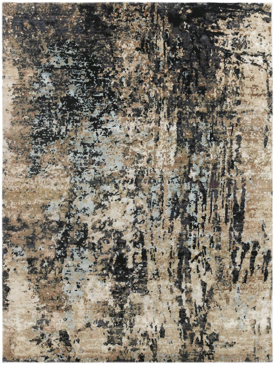 Blanchard Hand-Knotted Charcoal Area Rug Rug Size: Rectangle 6' x 9'