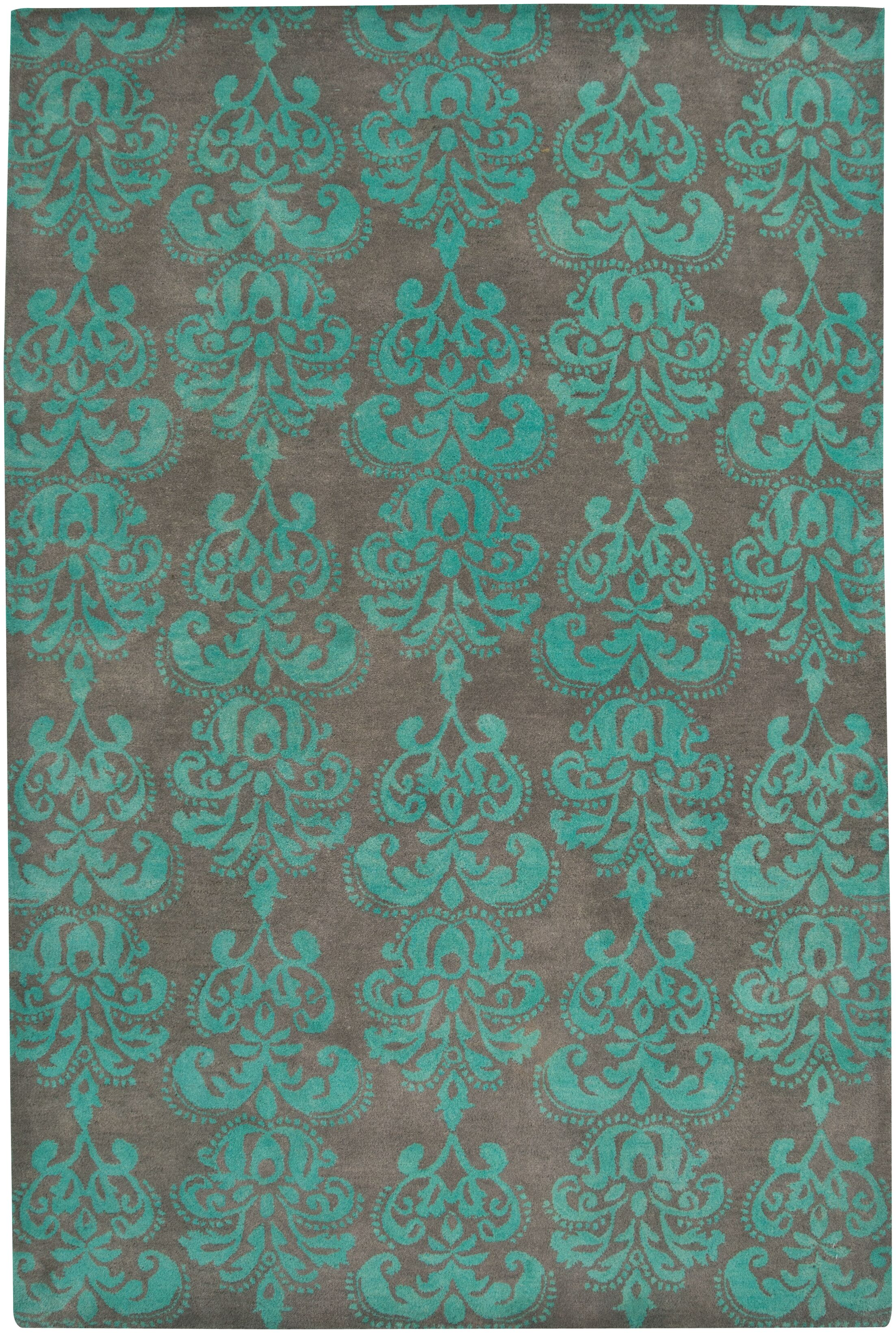 Brightwaters Hand-Tufted Cinder Area Rug Rug Size: 3'6