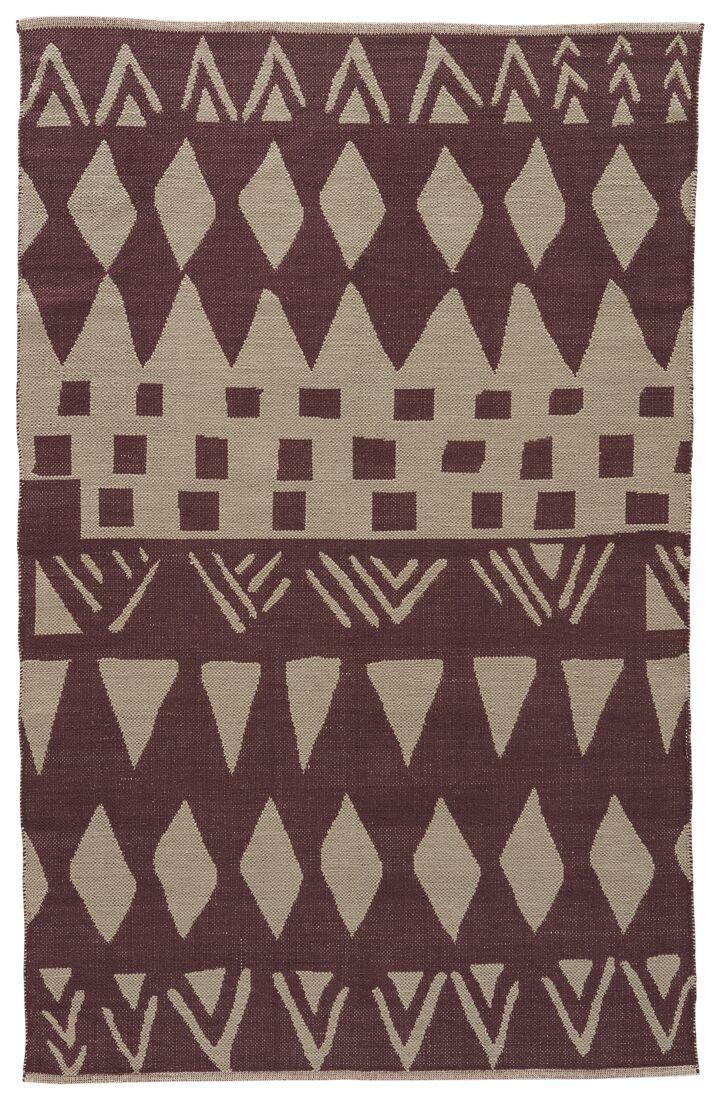 Jaimey Huckleberry/Abbey Stone Area Rug Rug Size: Rectangle 5' x 8'