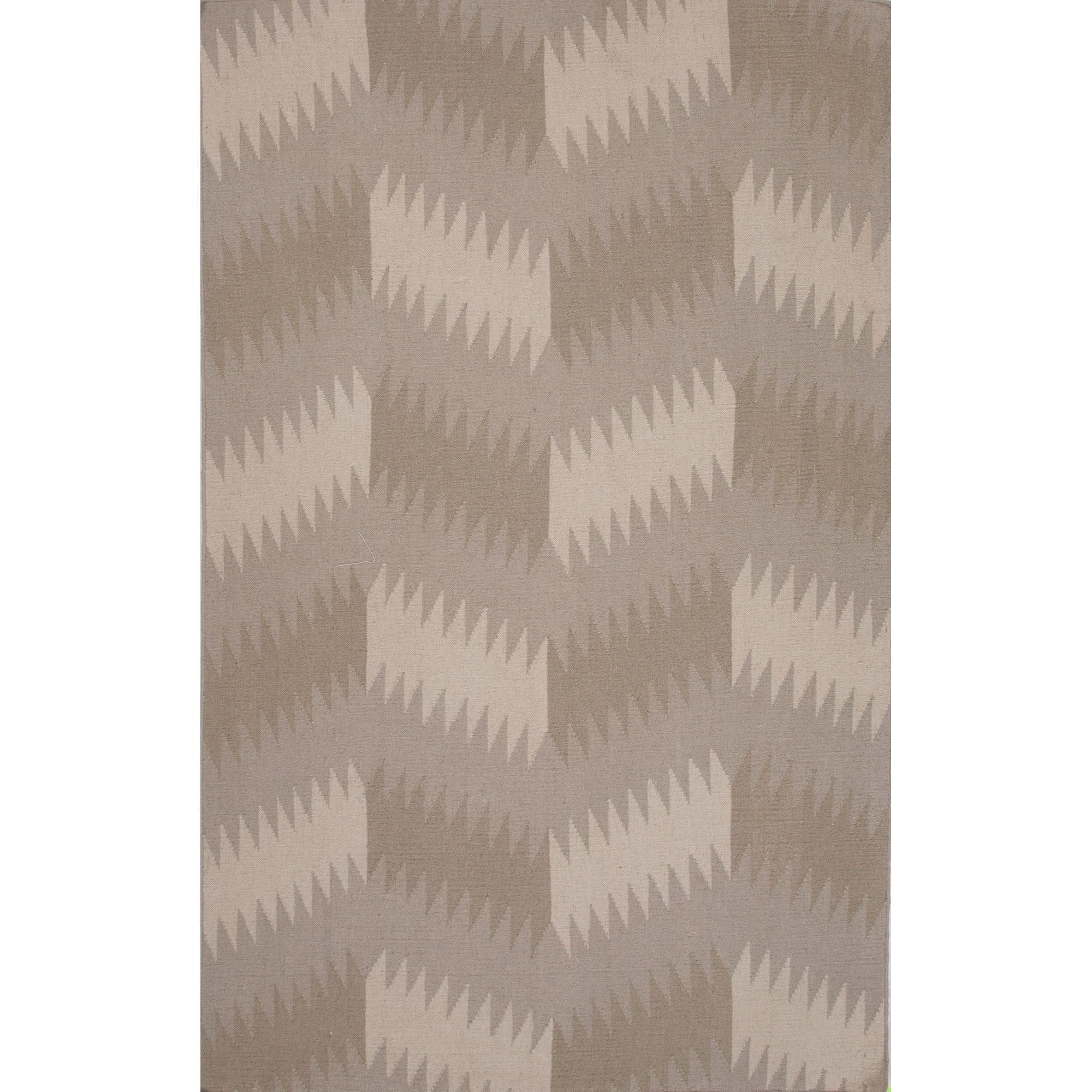Eilerman Flat Weave Wool Tan Area Rug Rug Size: 5' x 8'